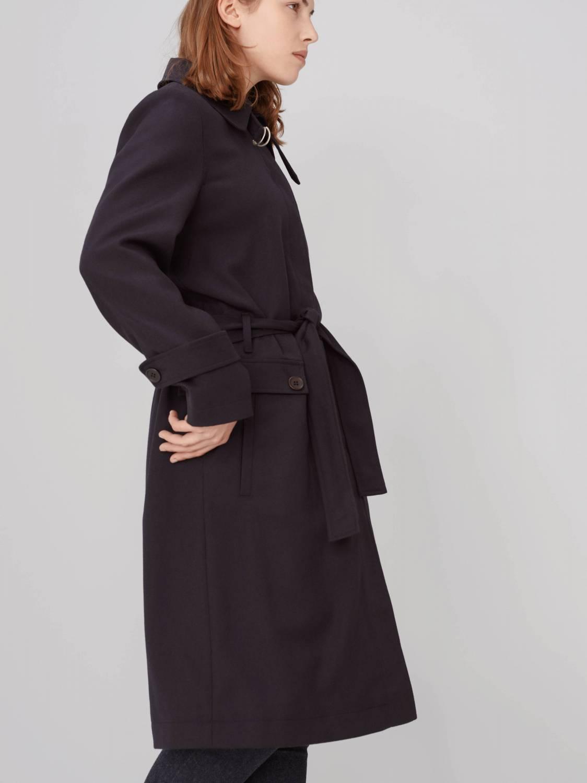 Trench-coat en laine vierge