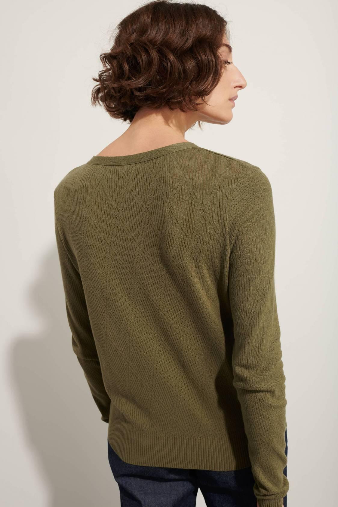 Diamond-shape jacquard sweater