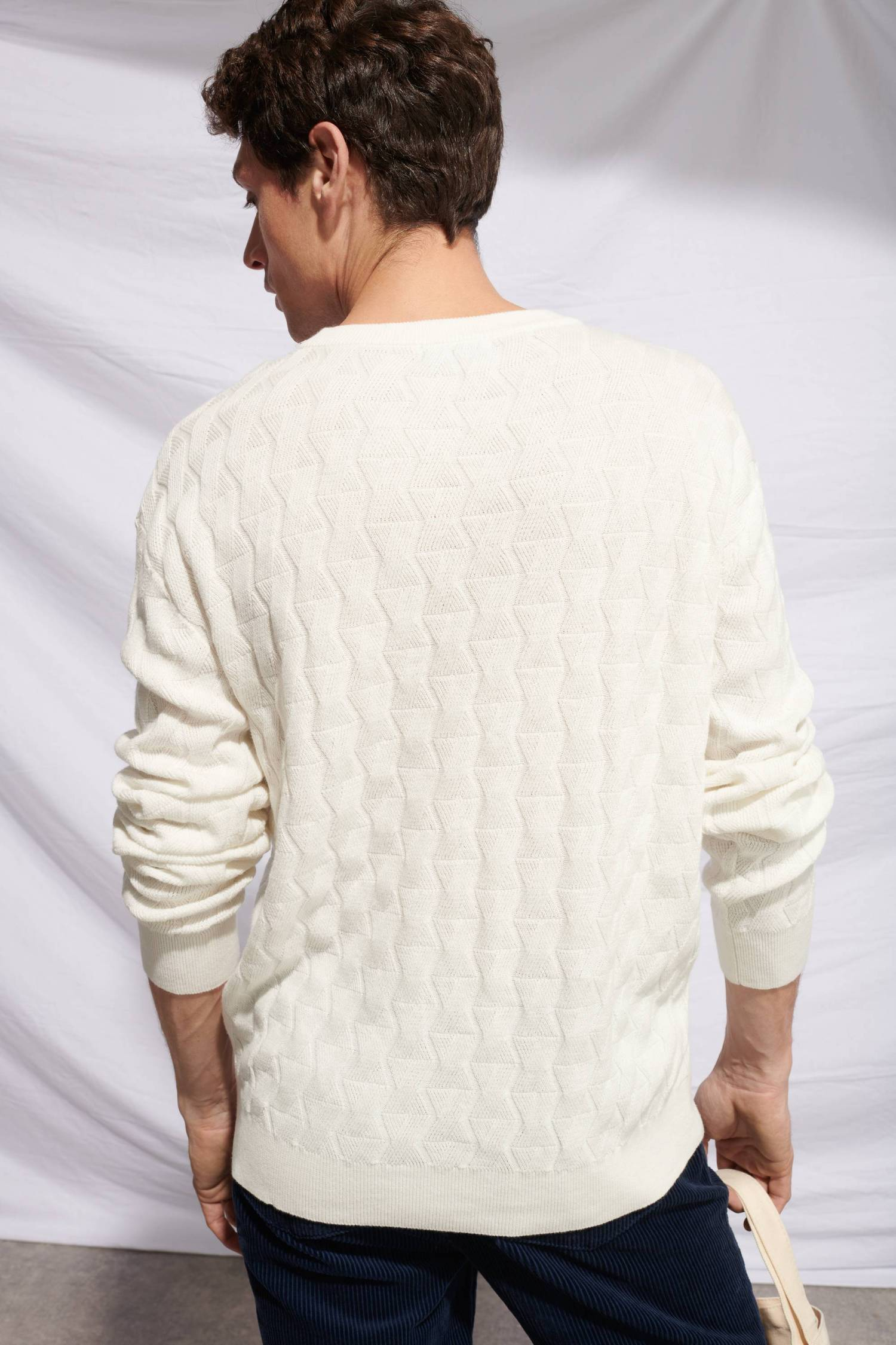 Pull Maille croisée