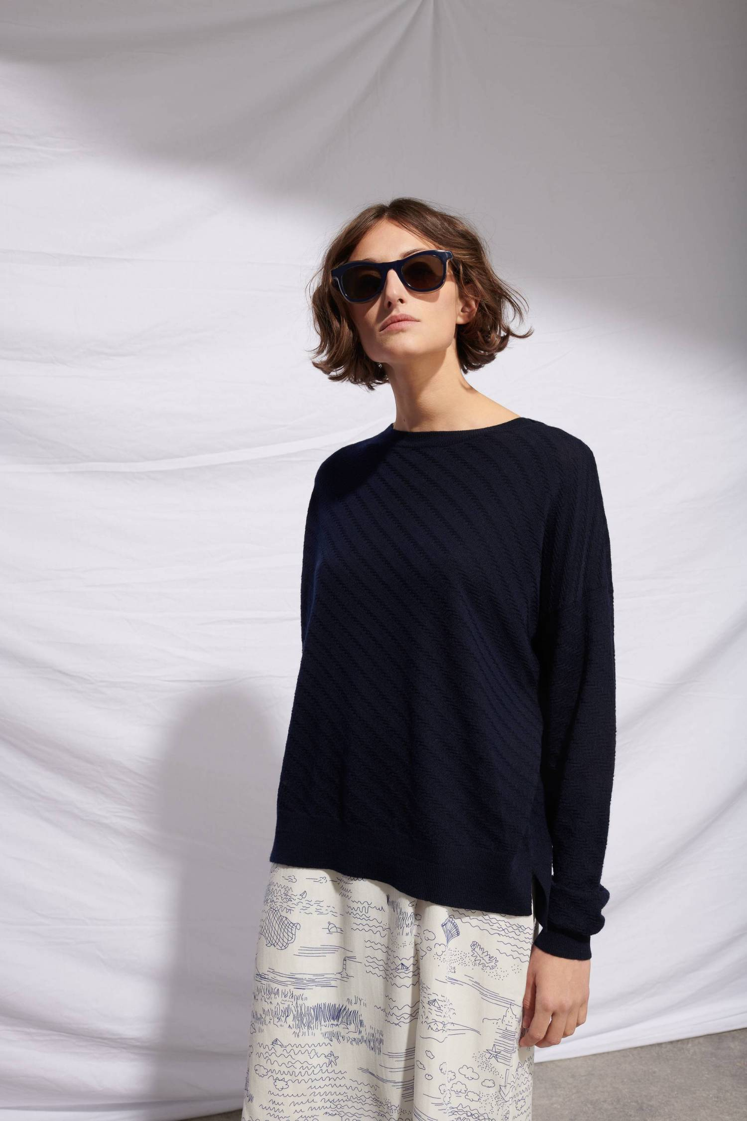 Pull maille texturée