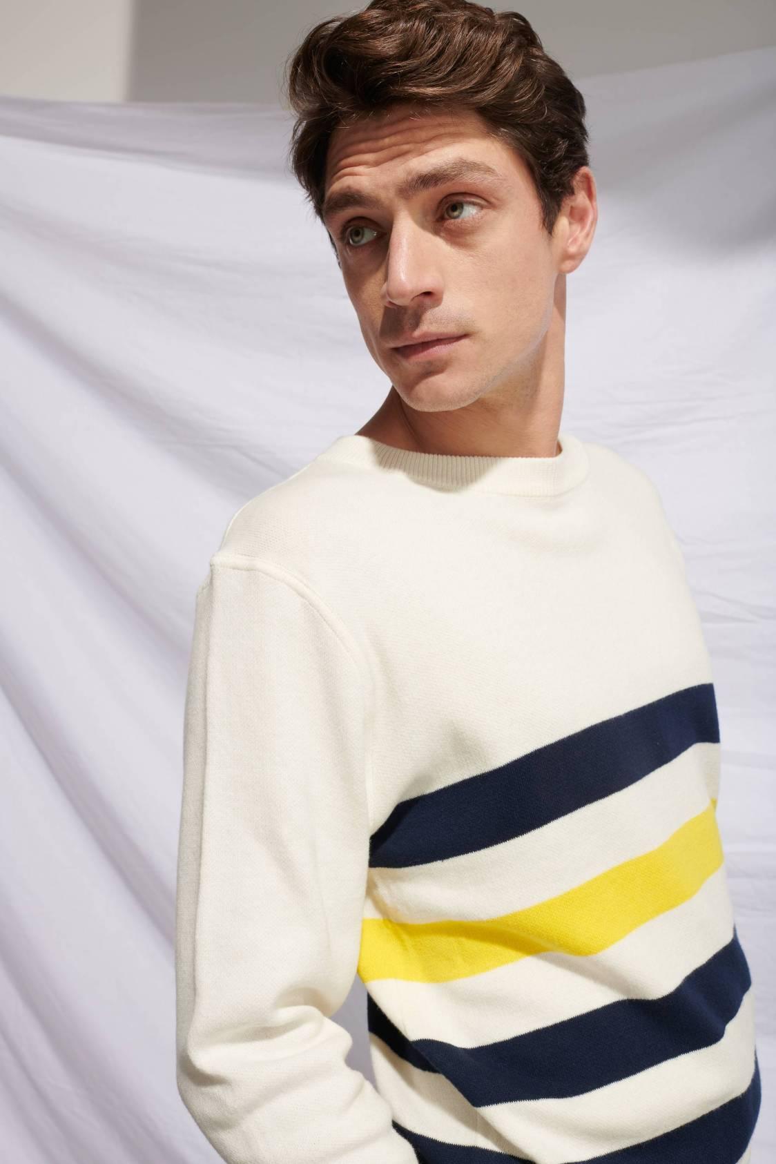 Large-stripe Sweater