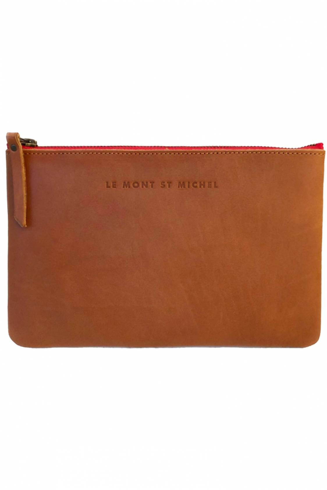 Leather zip case - large size