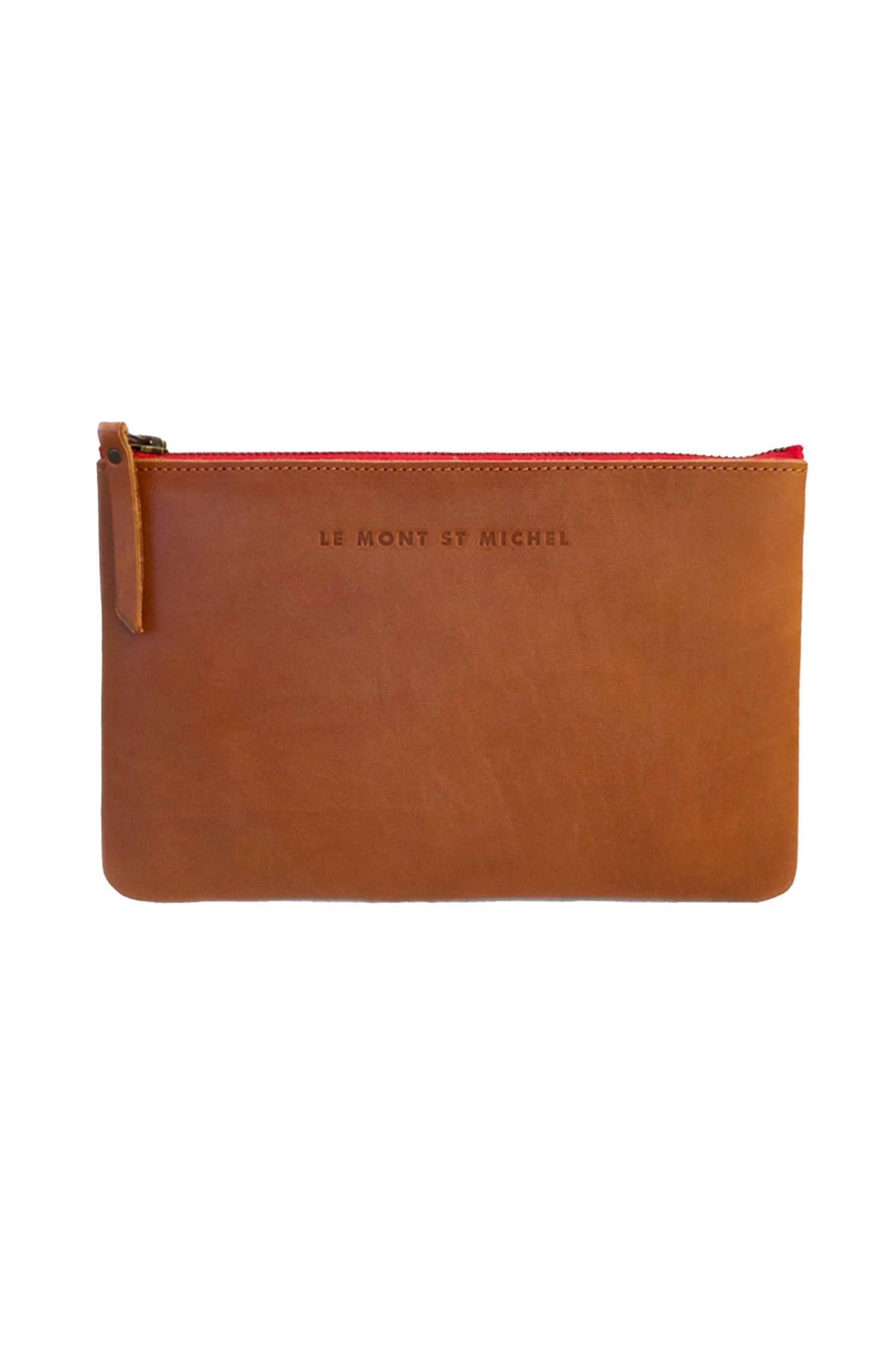 Leather zip case - small size