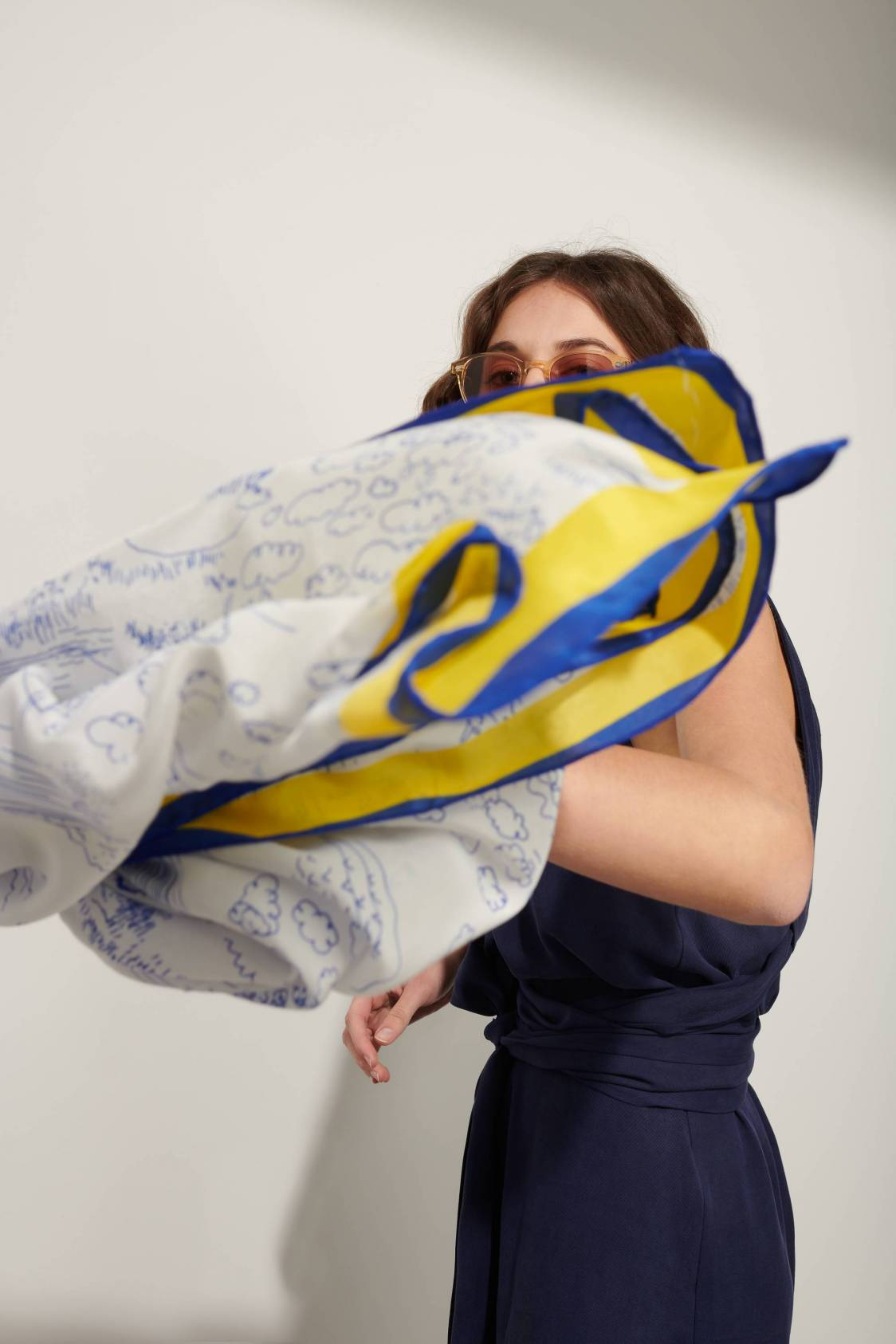 Pencil Silk Scarf