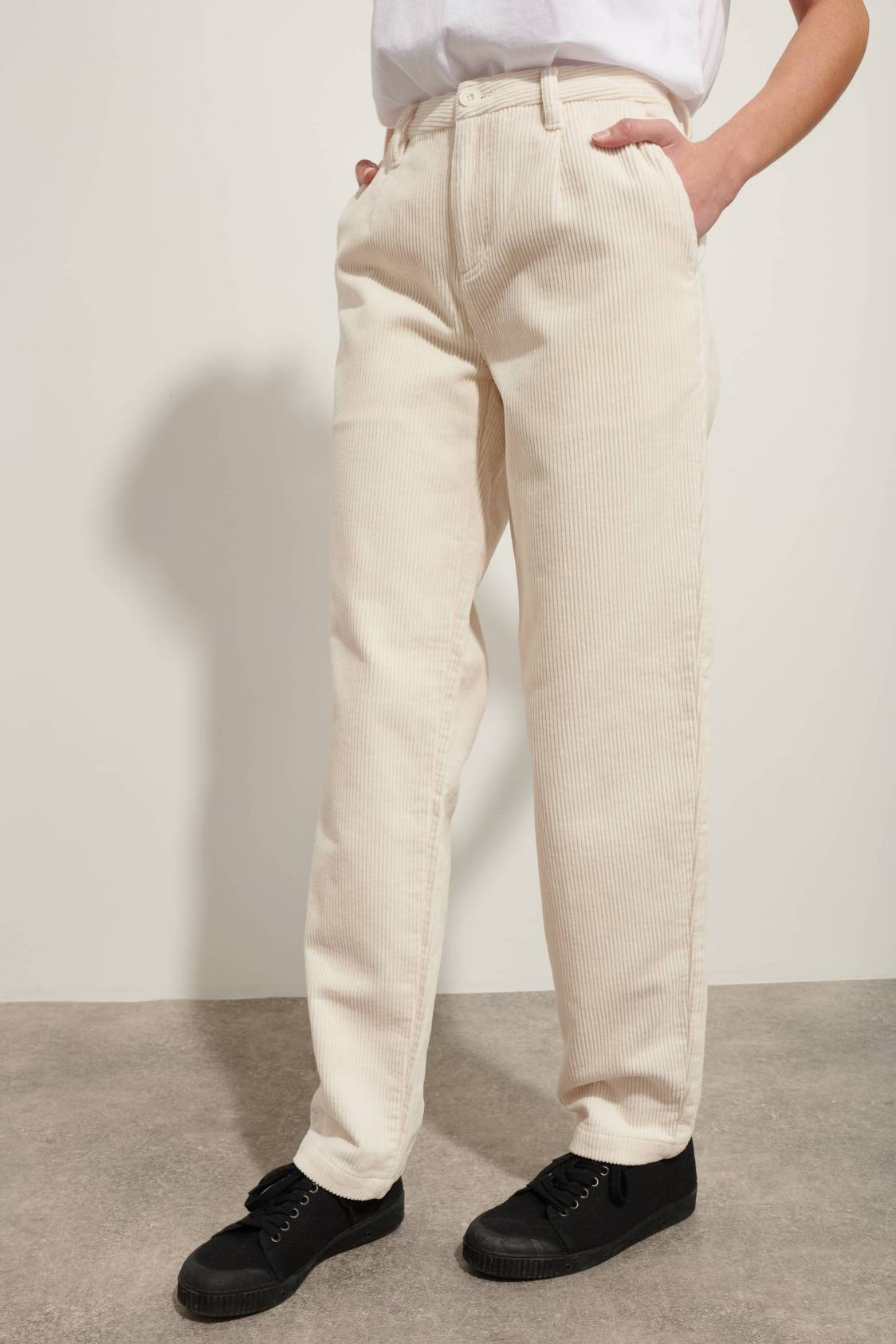 Wide Corduroy Trousers