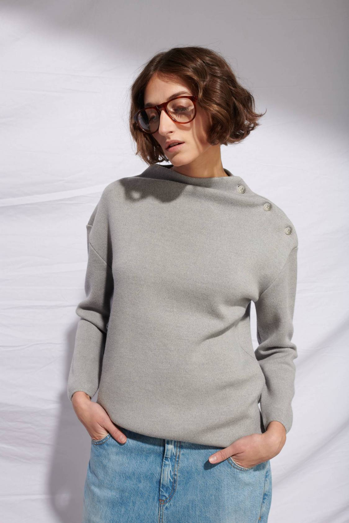 Boat Mock-turtleneck Sweater
