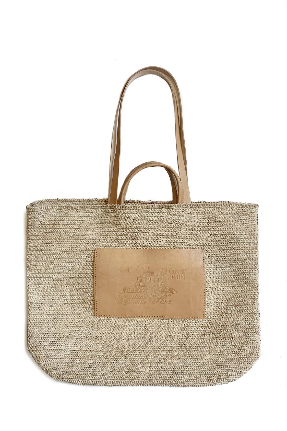 Leather & Straw bag