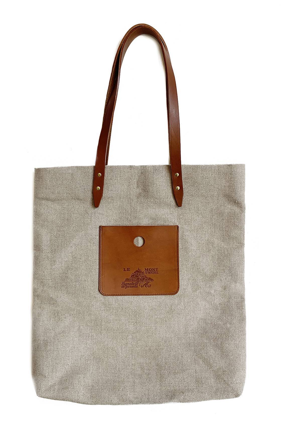 Linen & Leather Tote bag