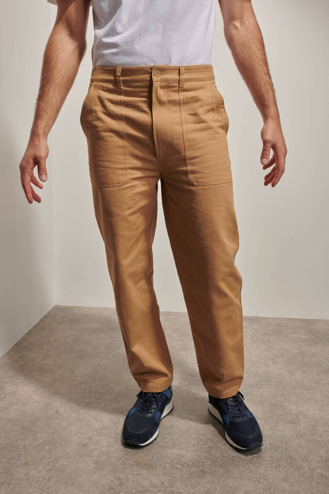 Pantalon large en sergé