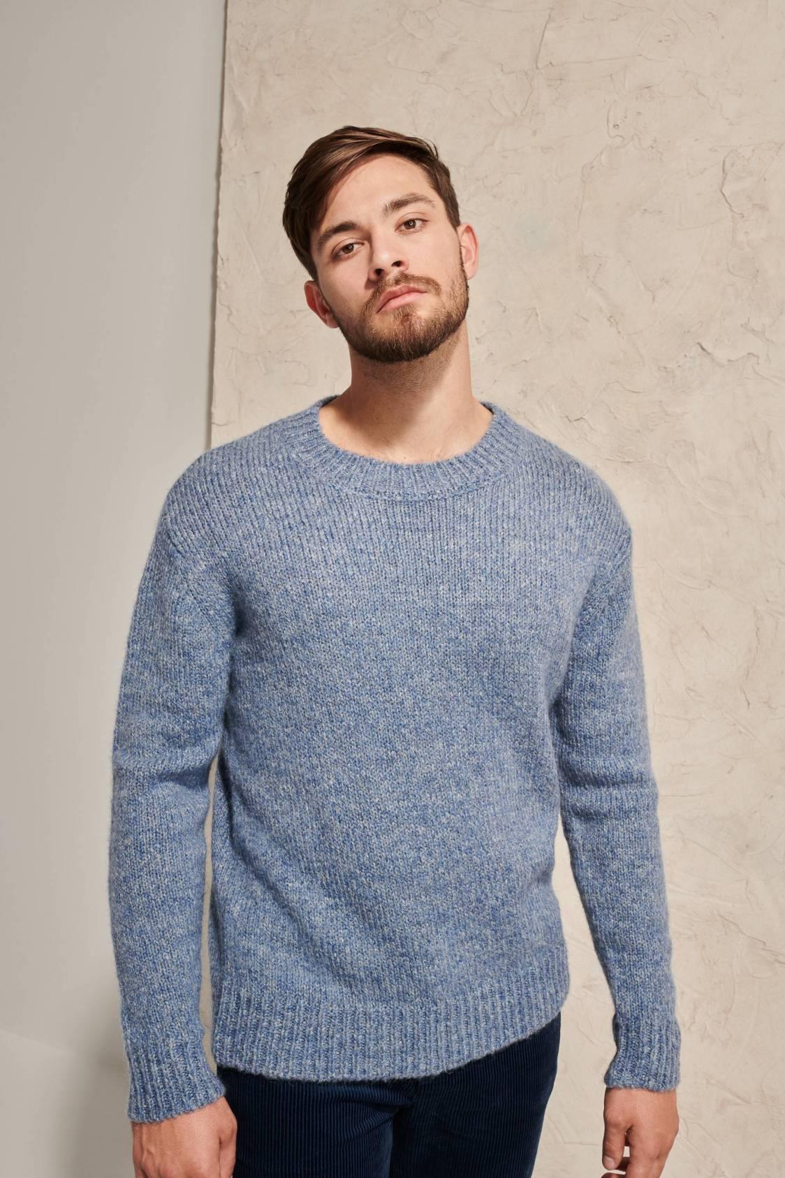 Chunky Heather Mohair Sweater
