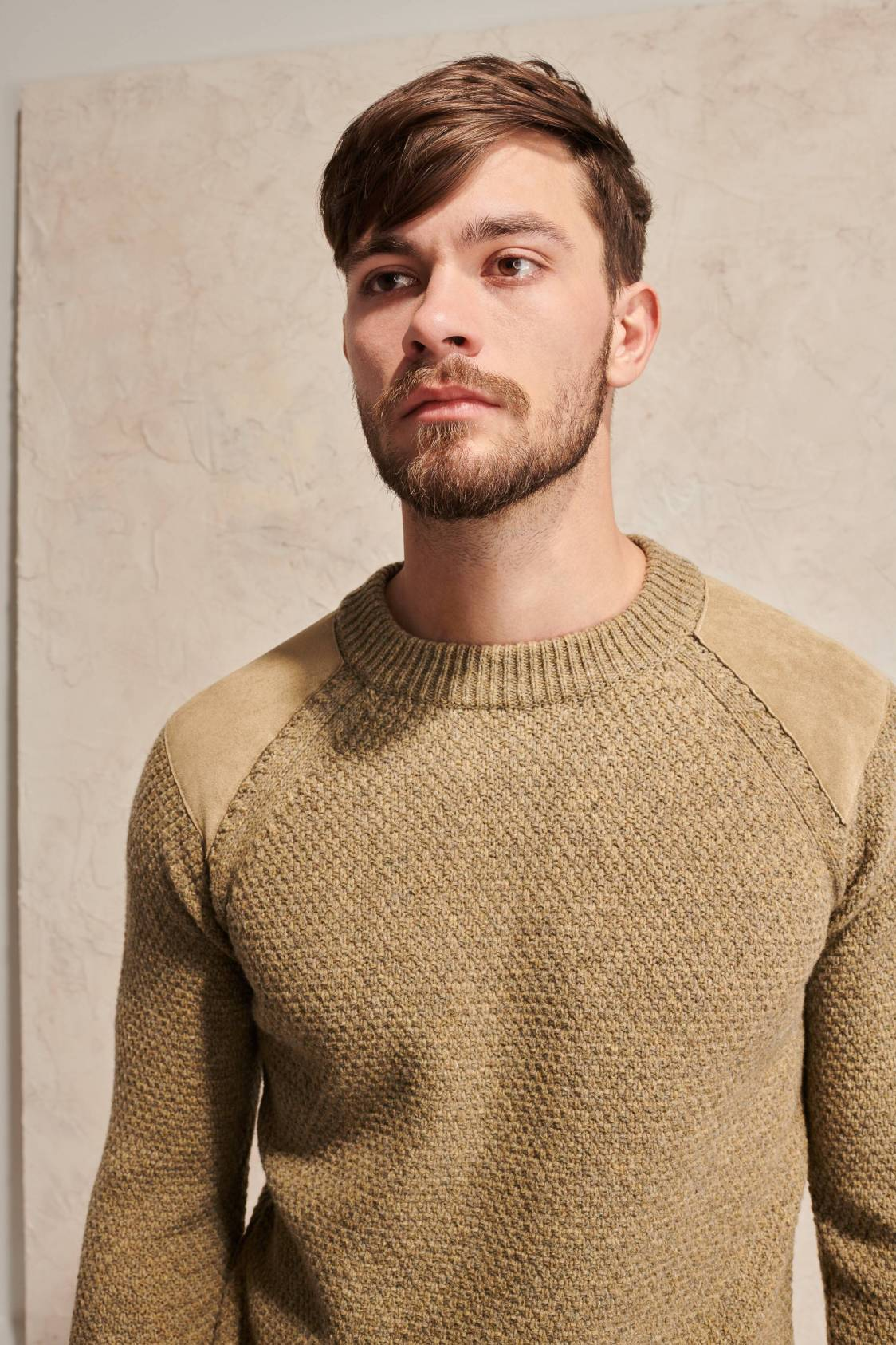 Shoulder-Patch Lambswool Sweater