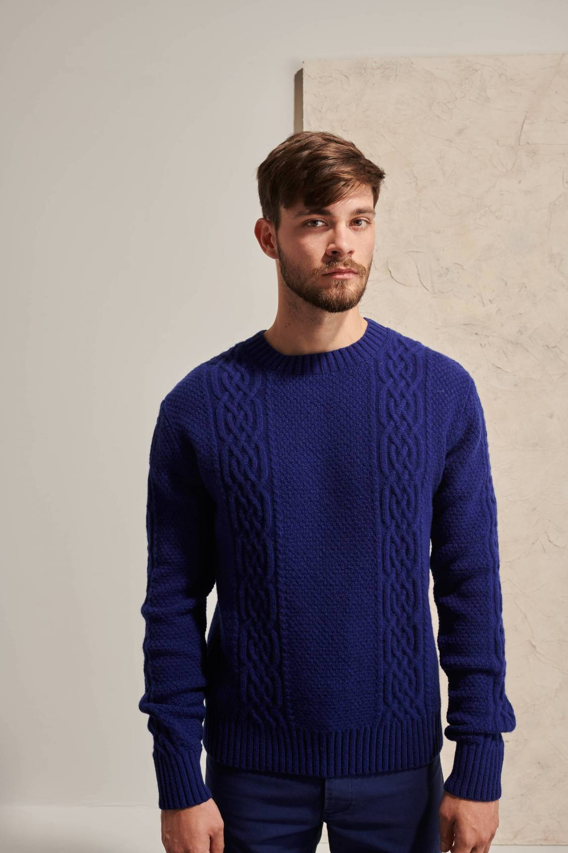 Lambswool Aran Sweater
