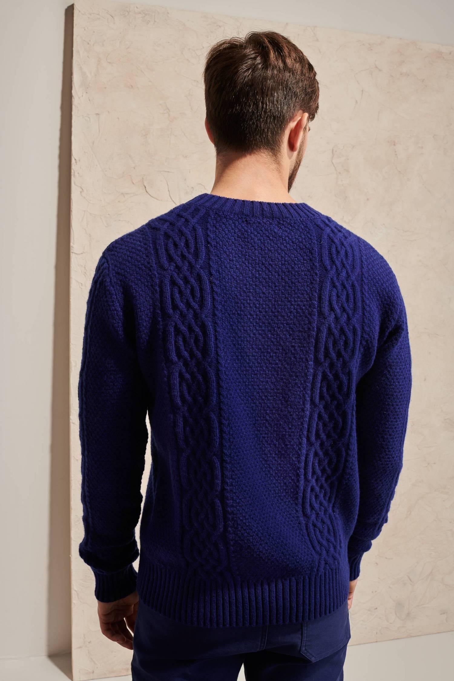 Lambswool Aran Sweater