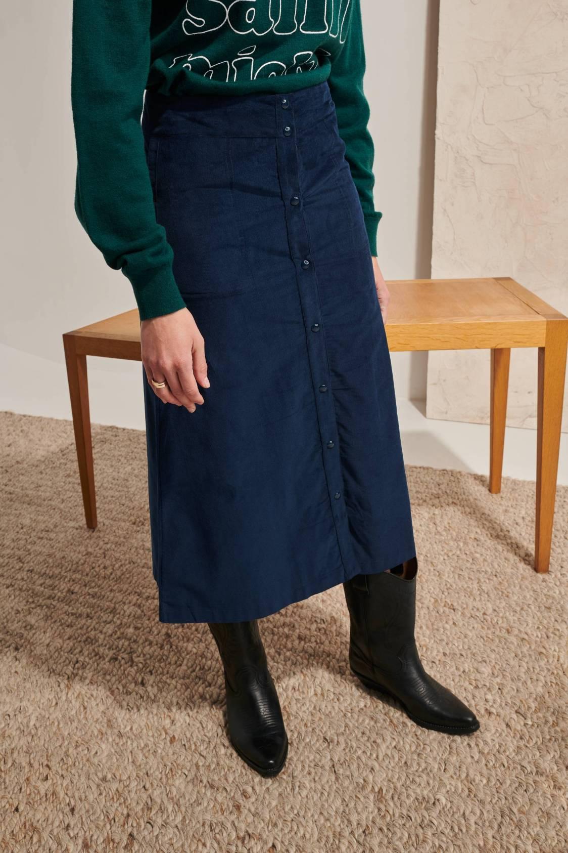 Snap Babycord Skirt