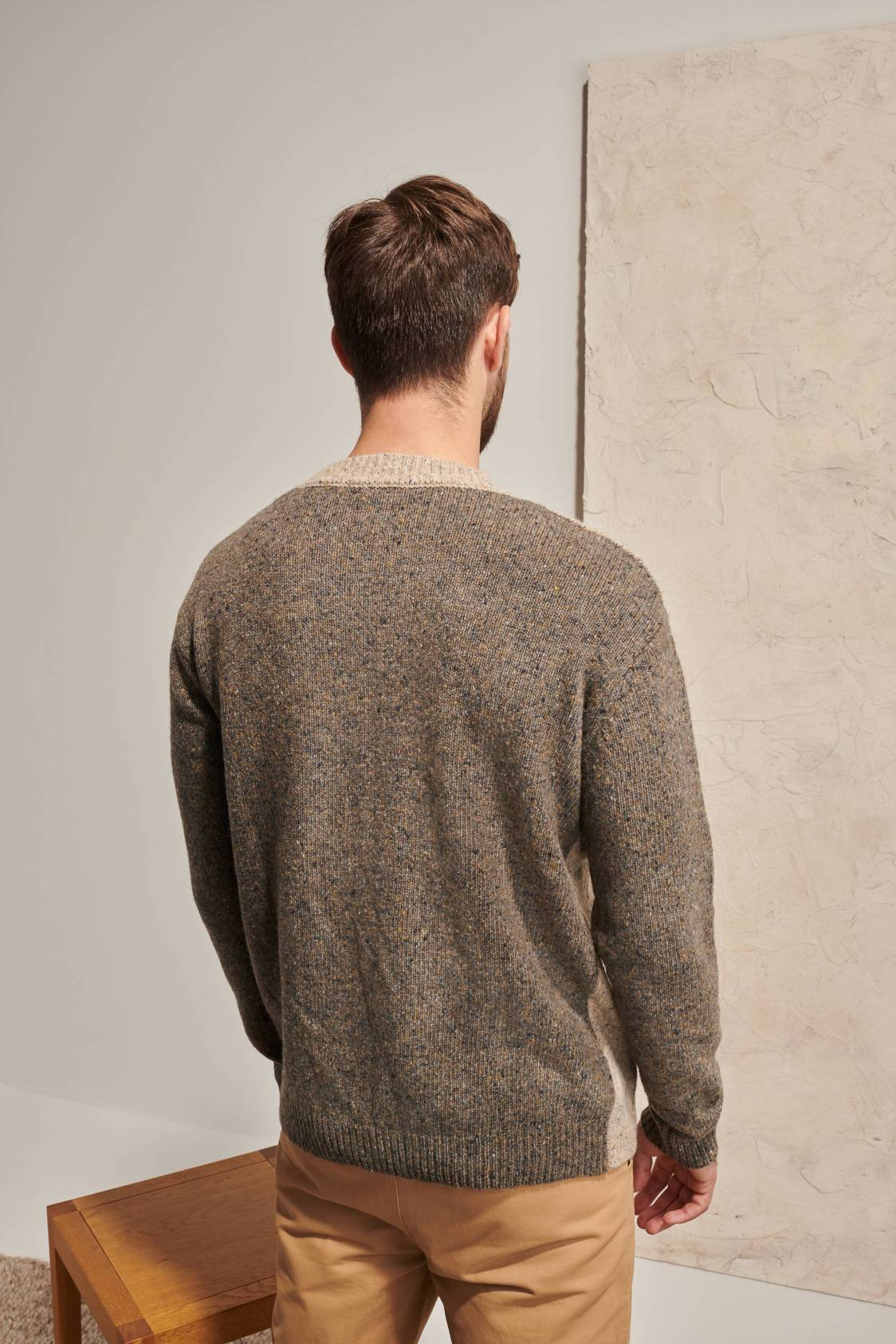 Heather Bicolor Sweater