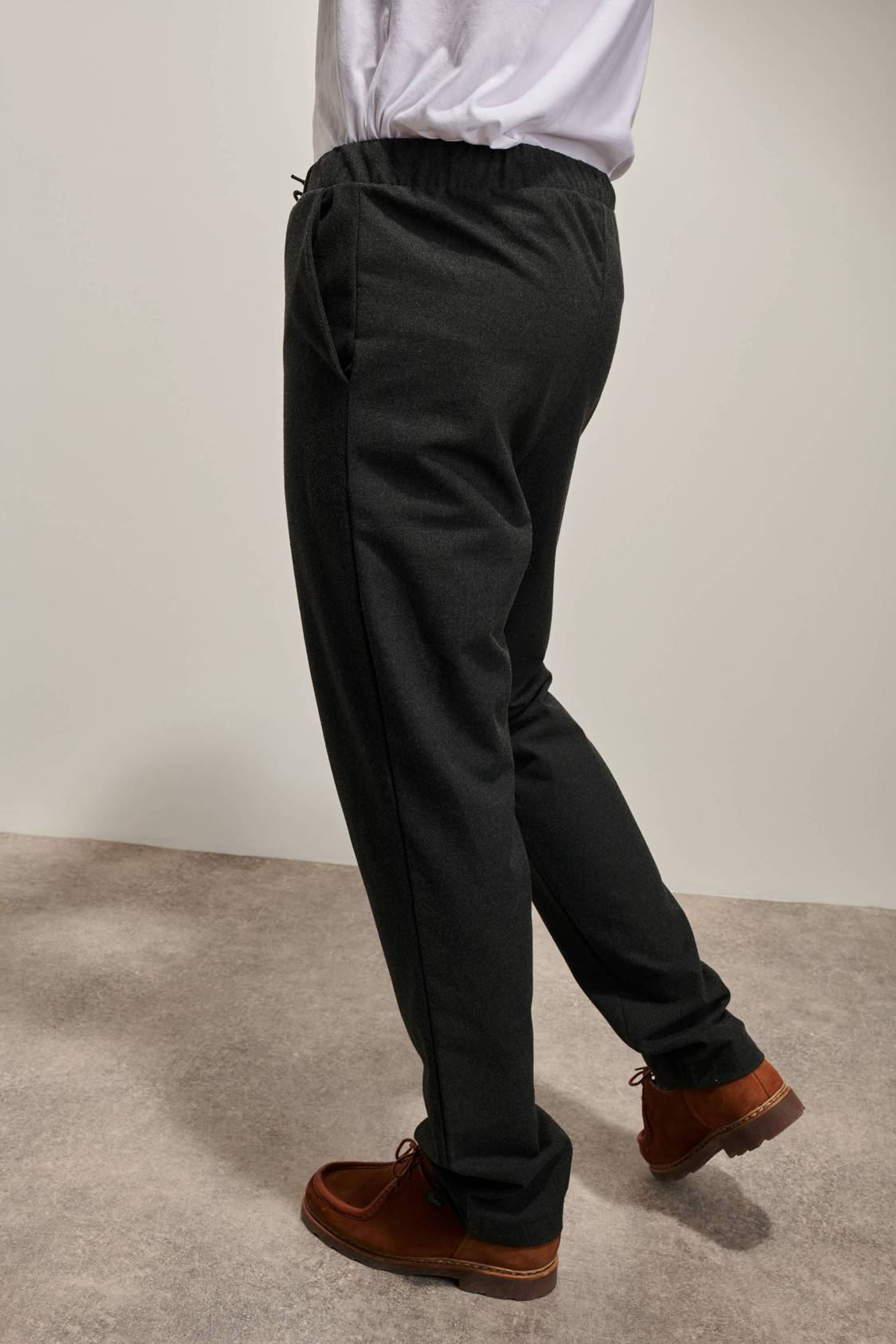 Woolen Drawstring Trousers