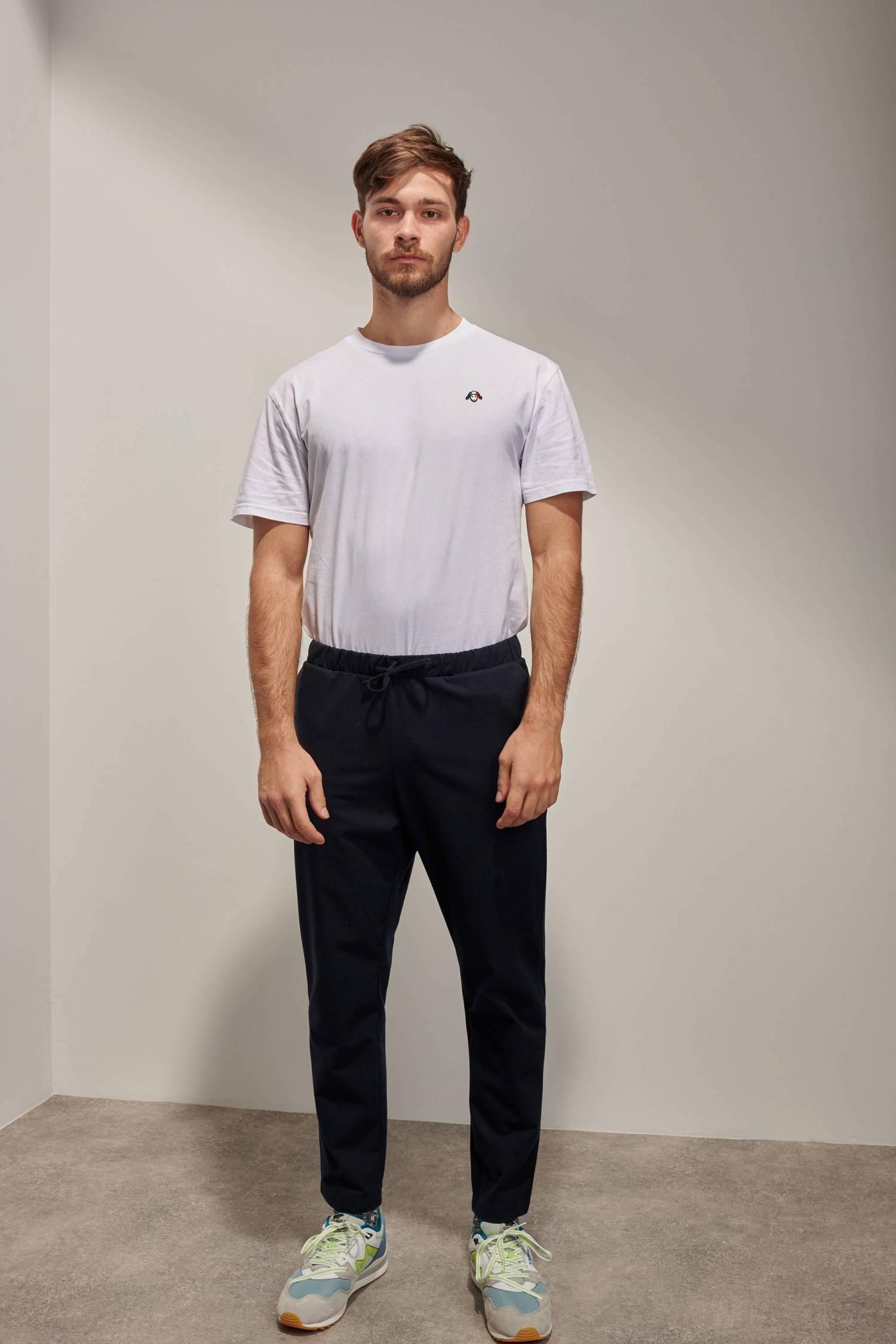 Pantalon élastiqué en lainage