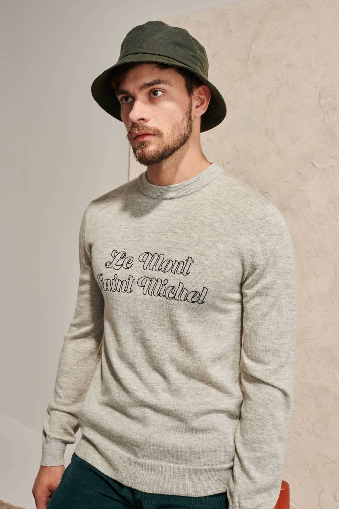 Embroidered Mont St Michel Sweater