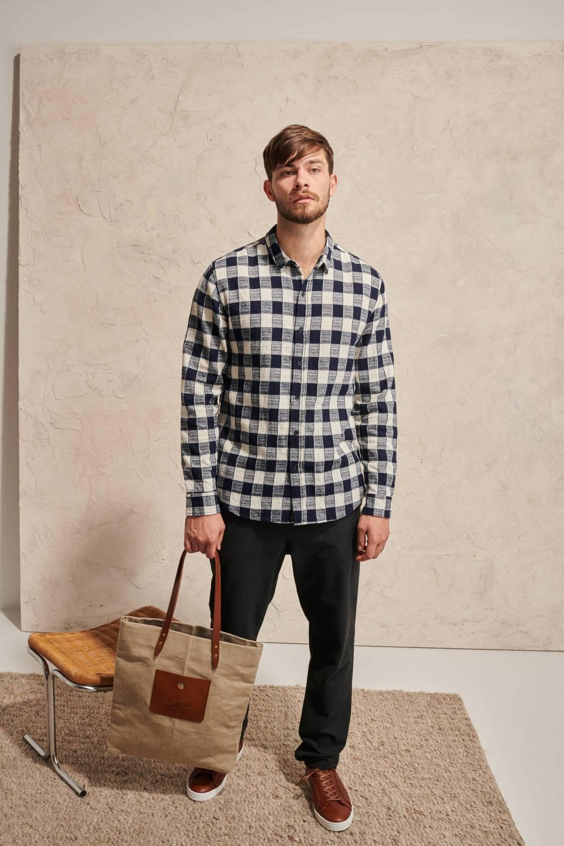 Textured Gingham Shirt