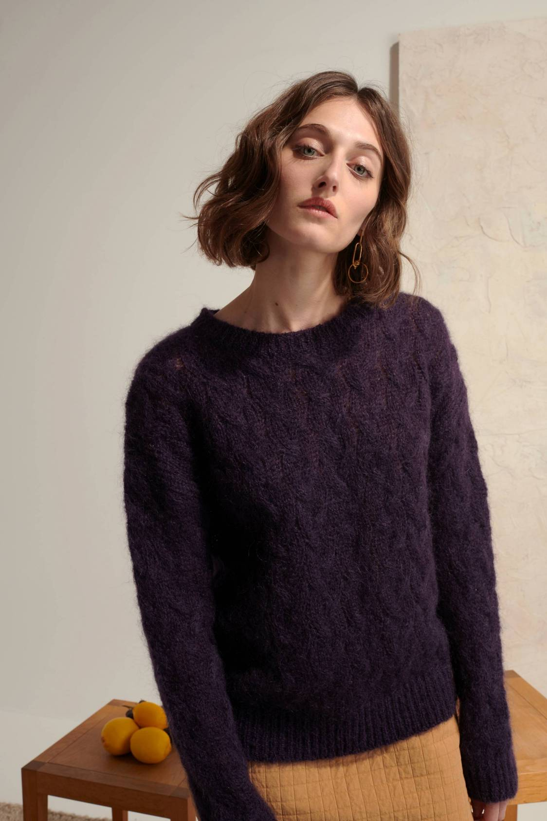 Cable Mohair Sweater