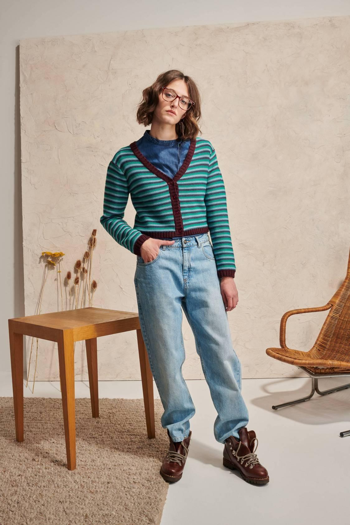 Vintage Striped Cardigan
