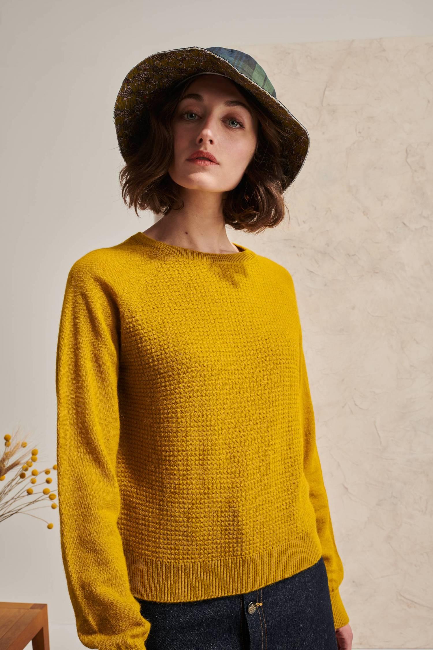 Alpaca & Wool Bubble Sweater