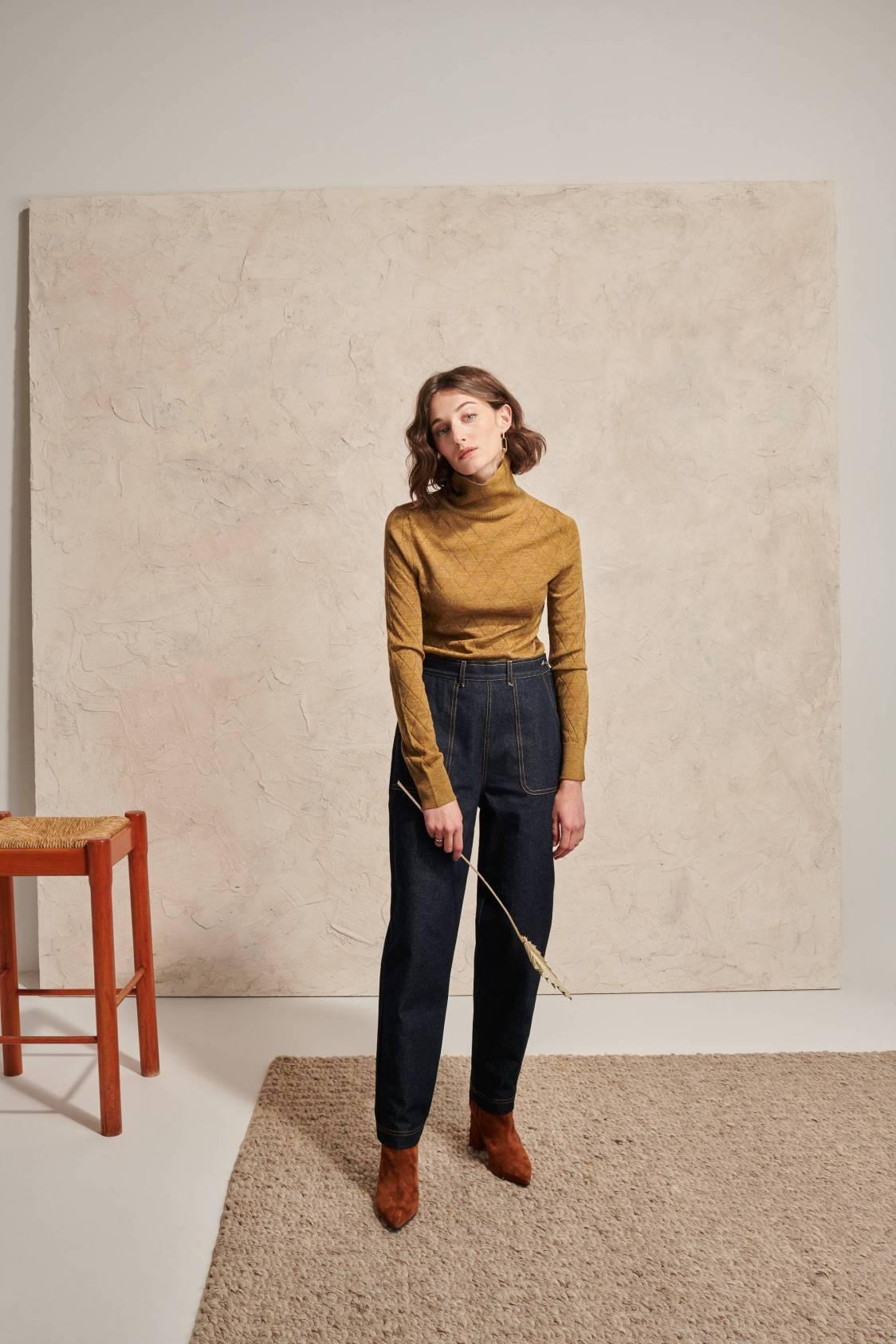 Diamond Turtleneck Sweater