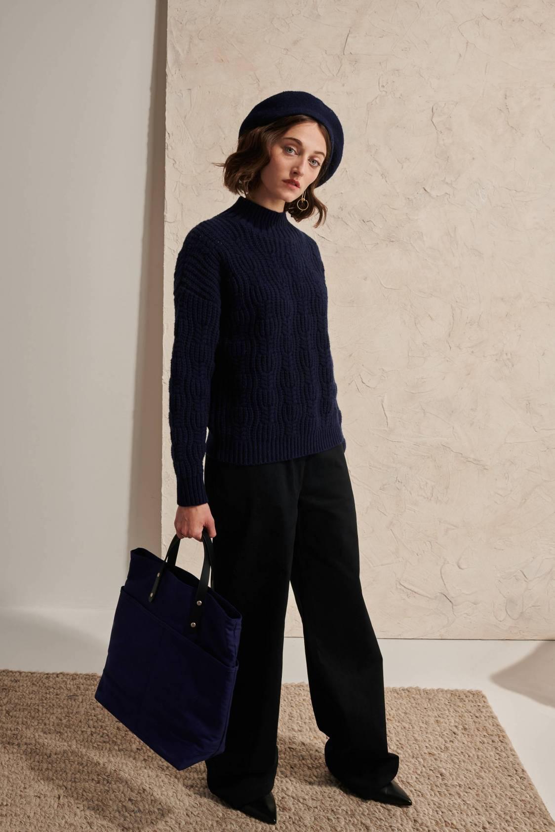 Chunky Textured Lambswool Sweater