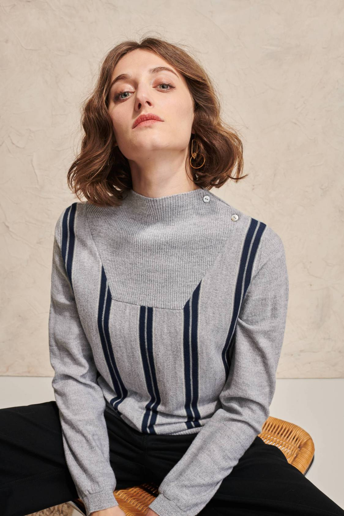Pull rayures verticales