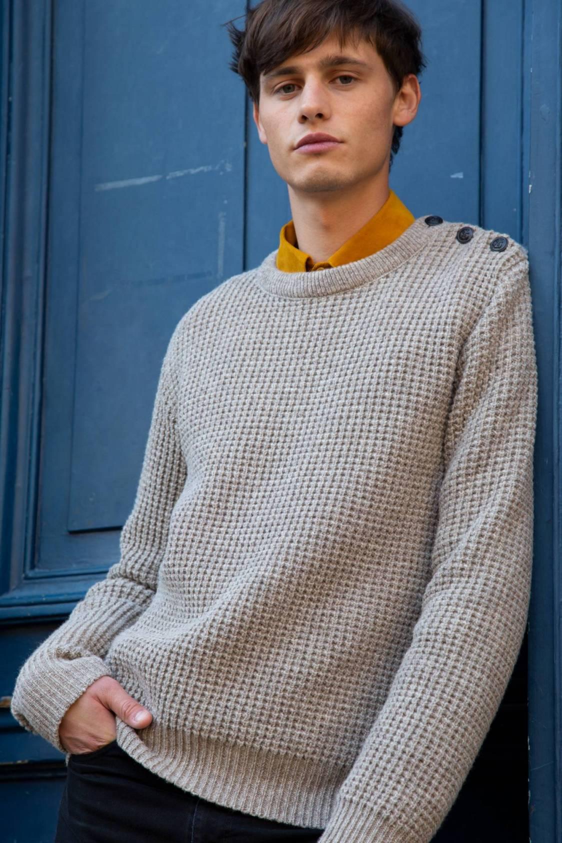 Pull en laine mérinos d'Arles
