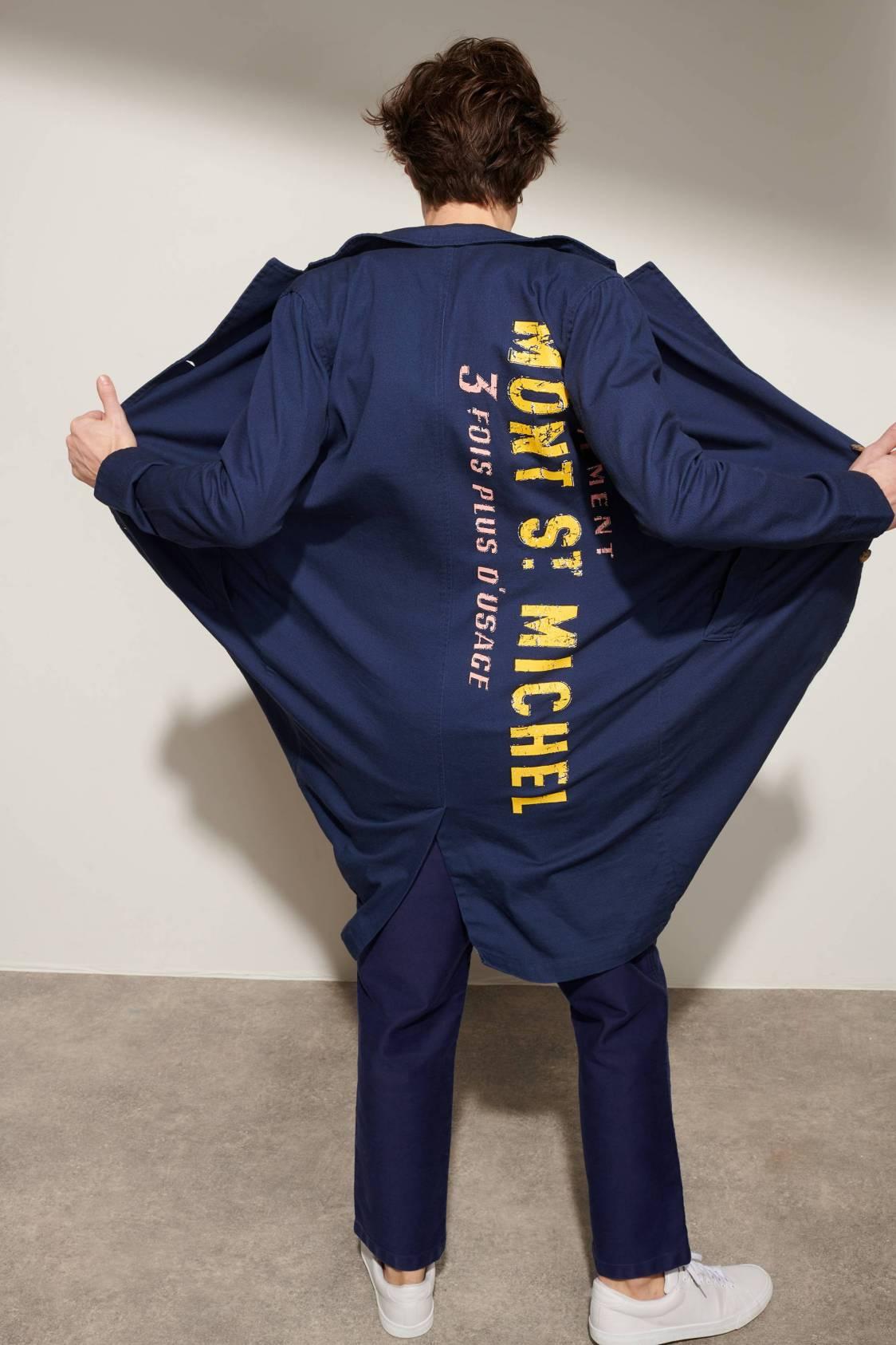 Manteau de travail sérigraphié