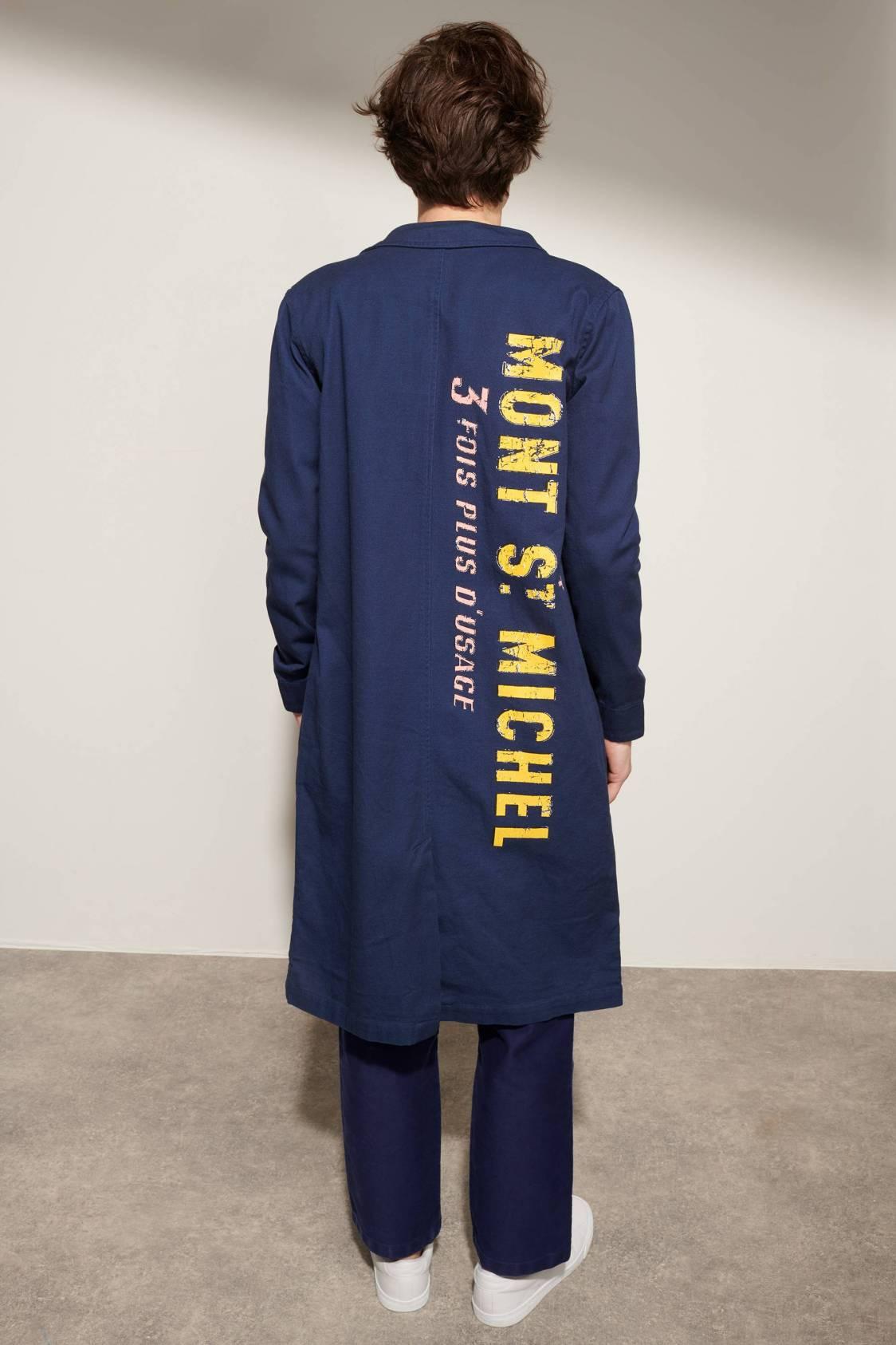 Screen-printed Work Coat