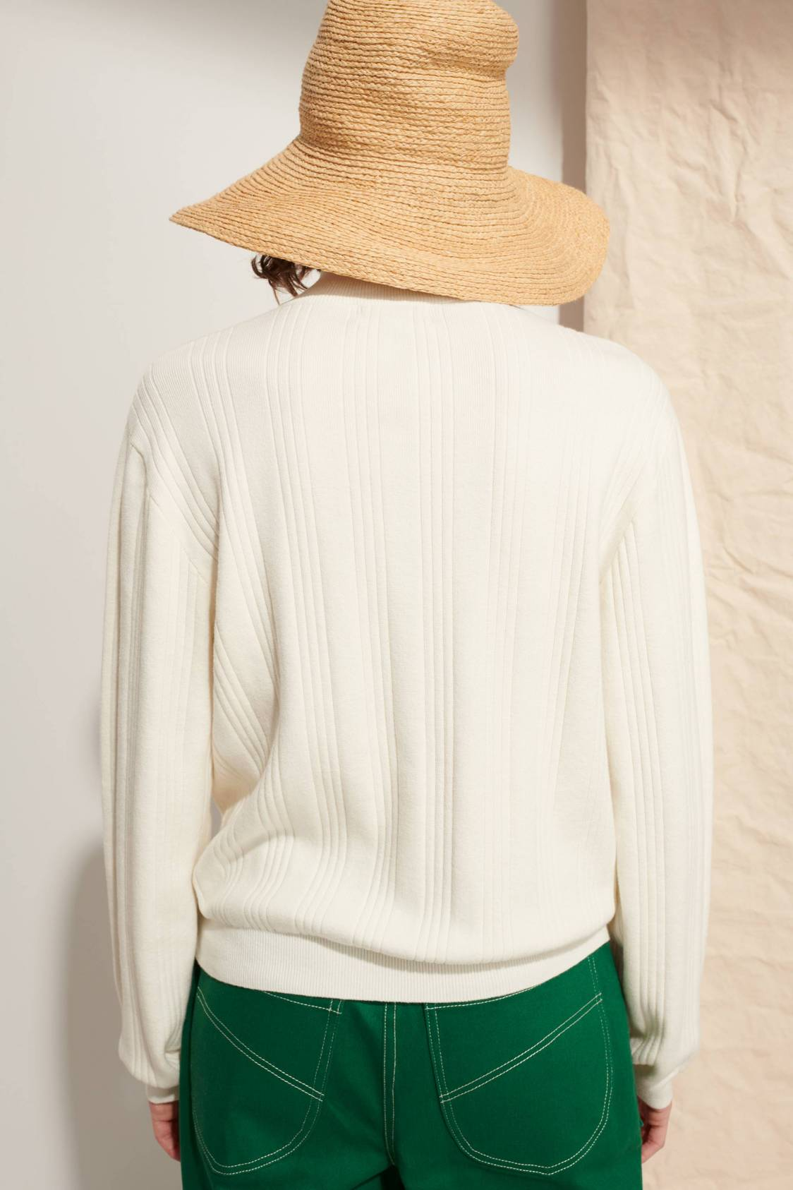 High-neck Ribbed Sweater