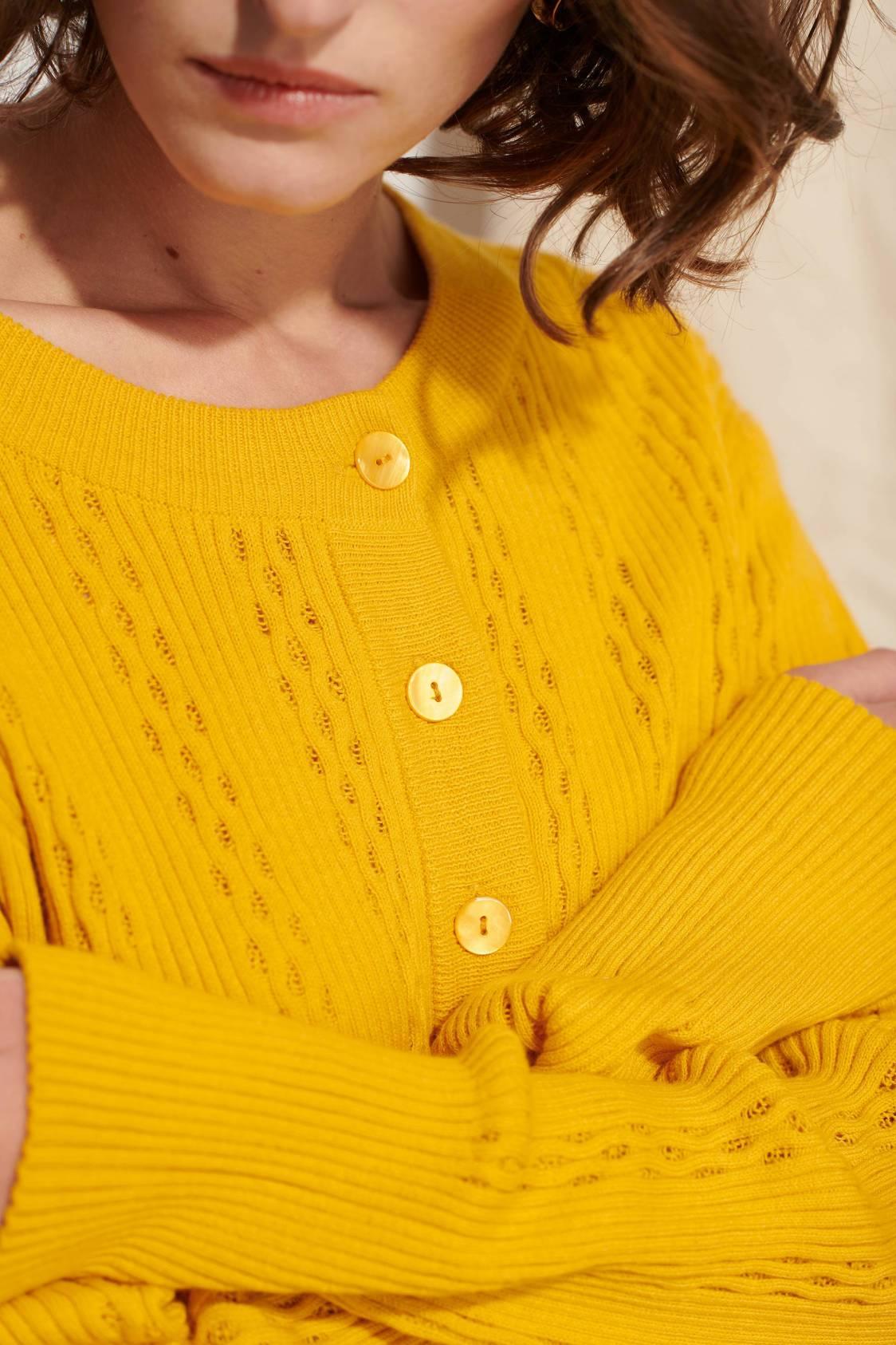 Eyelet-knit Cardigan