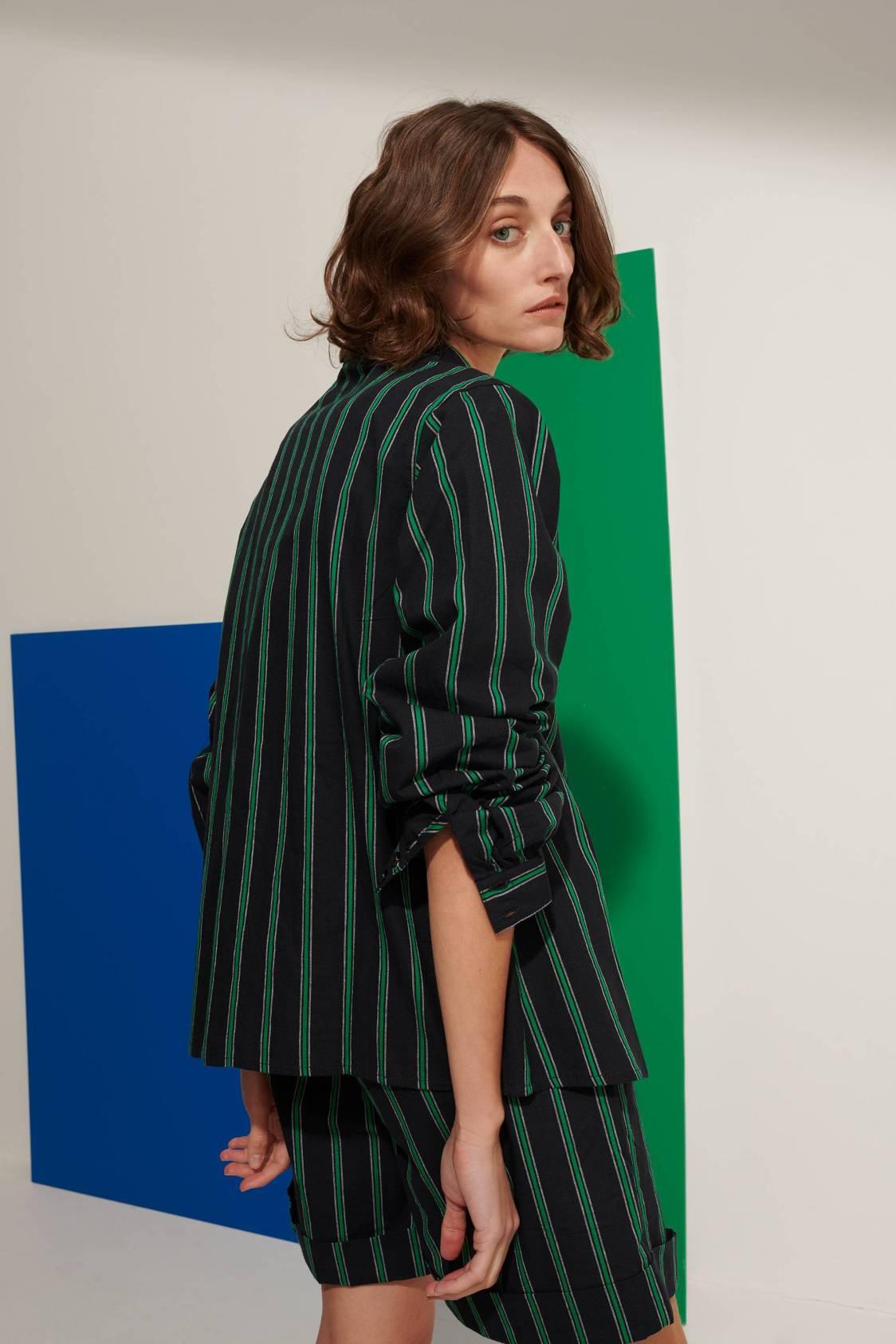 Vertical-stripe Shirt
