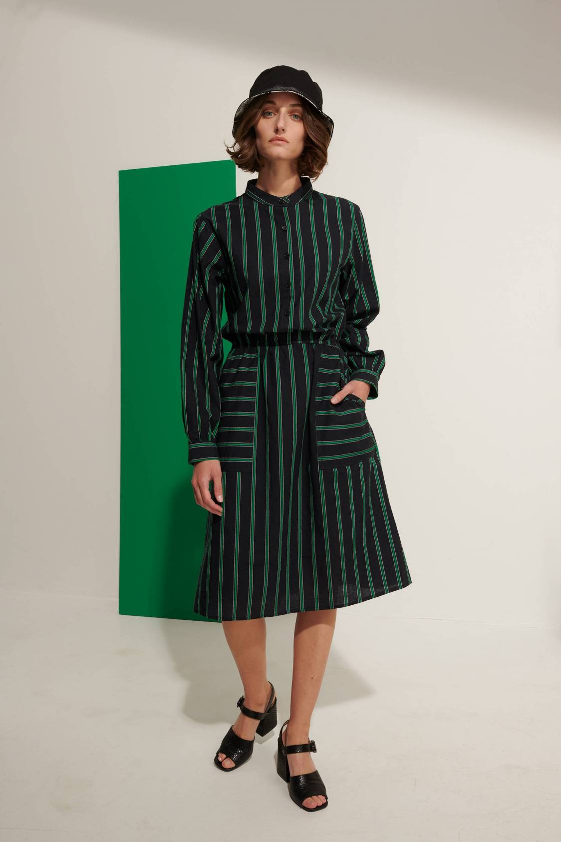 Vertical-stripe Dress