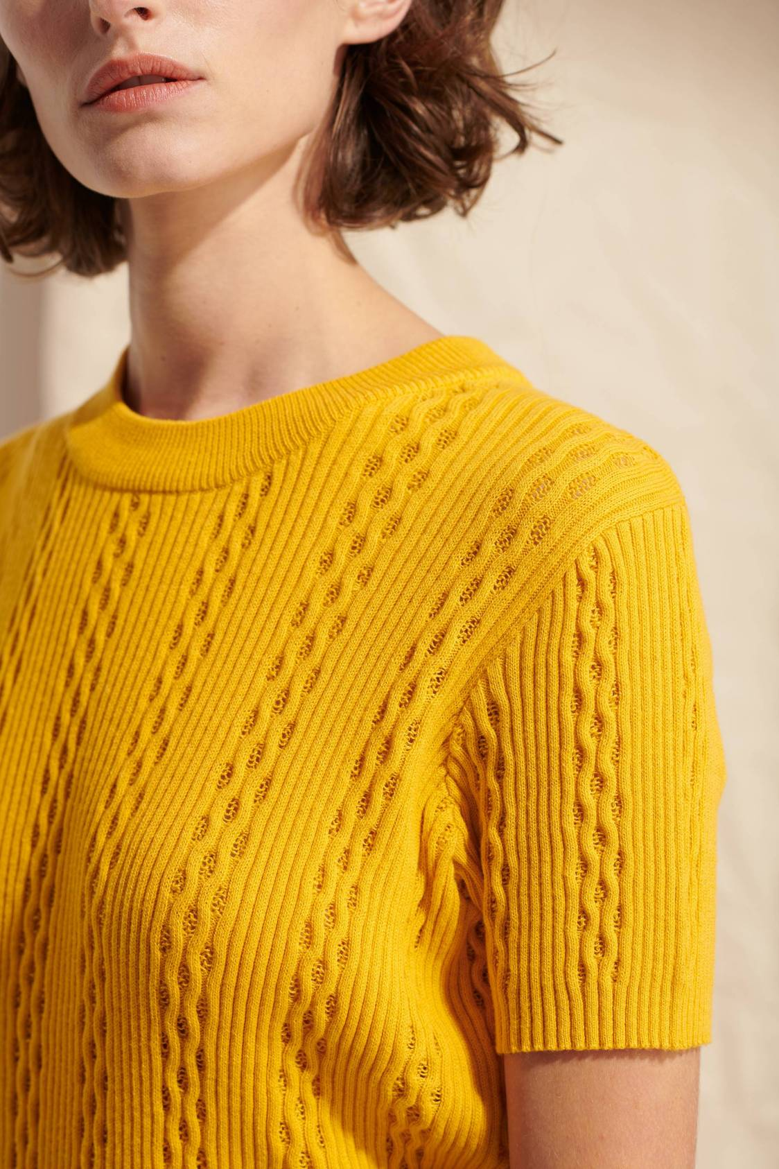 Eyelet-knit Sweater