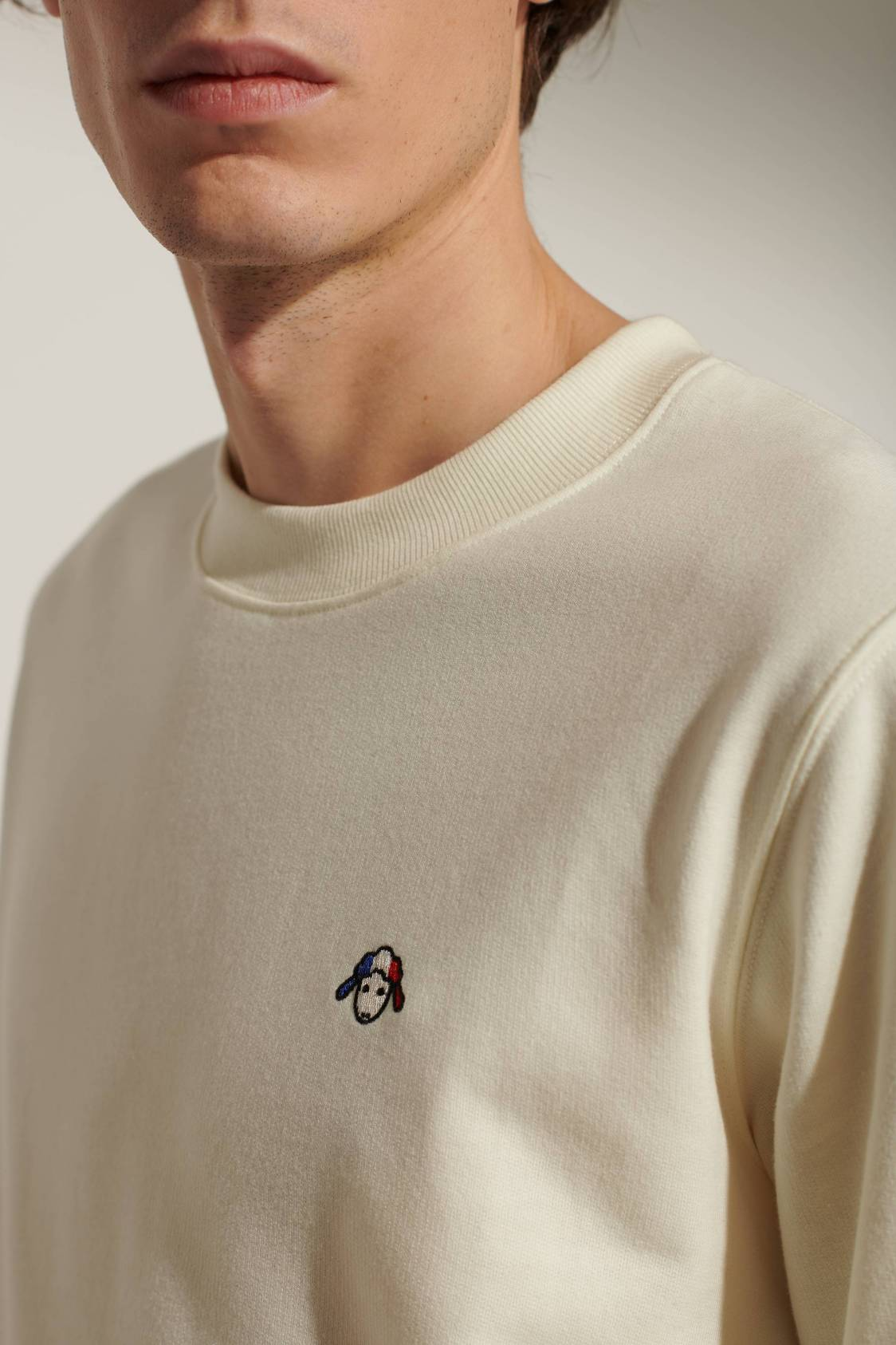 Sheep-embroidery Sweatshirt