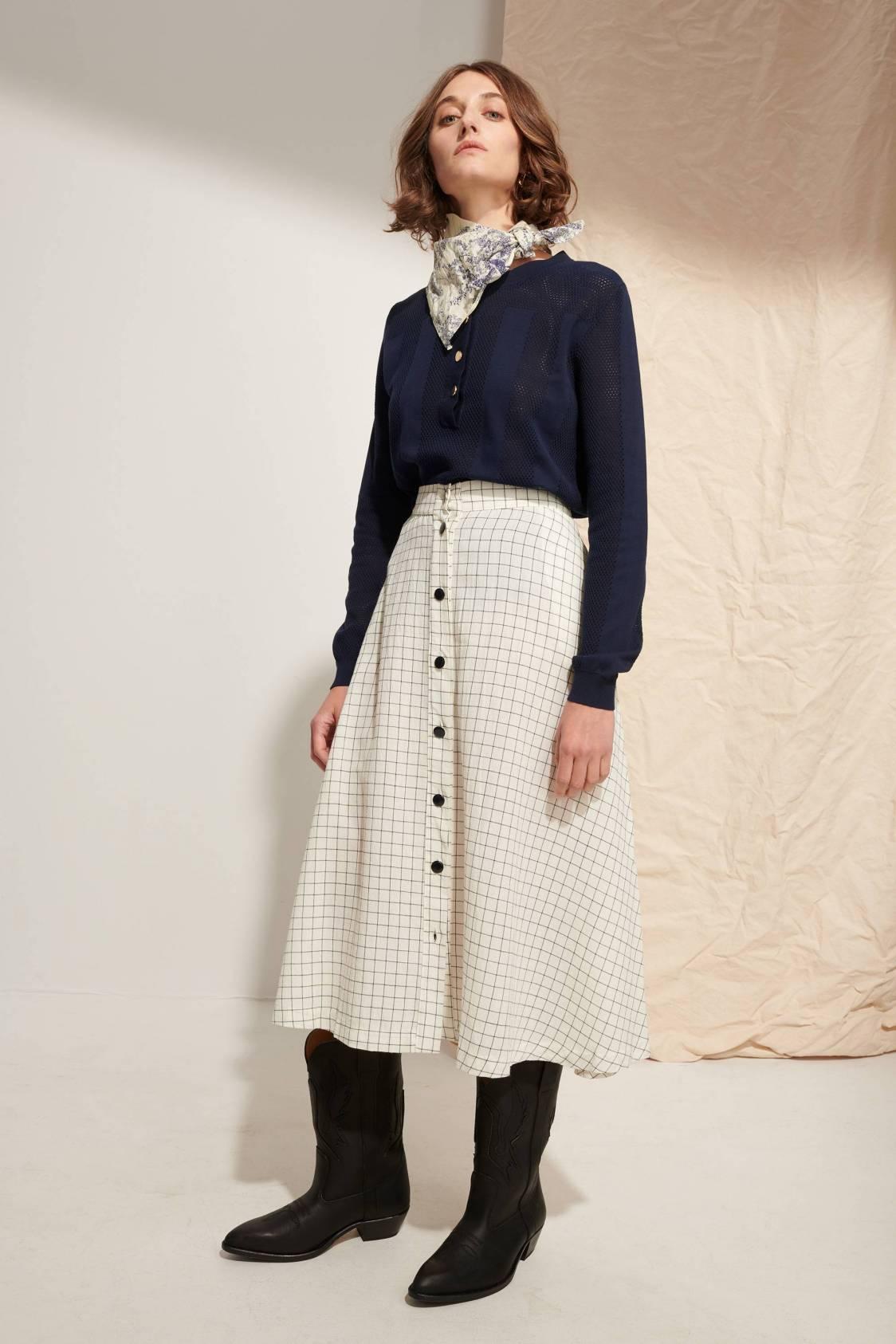 A-Line Check Skirt