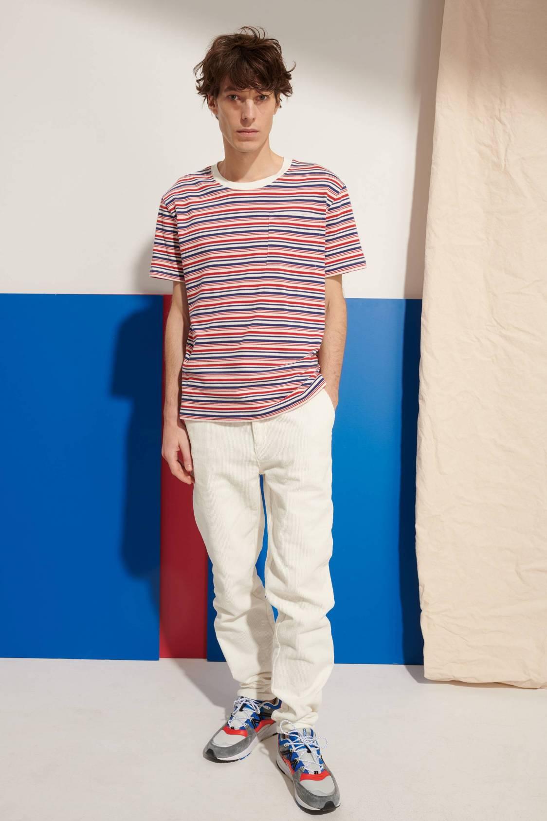 Tricolor-stripe T-Shirt