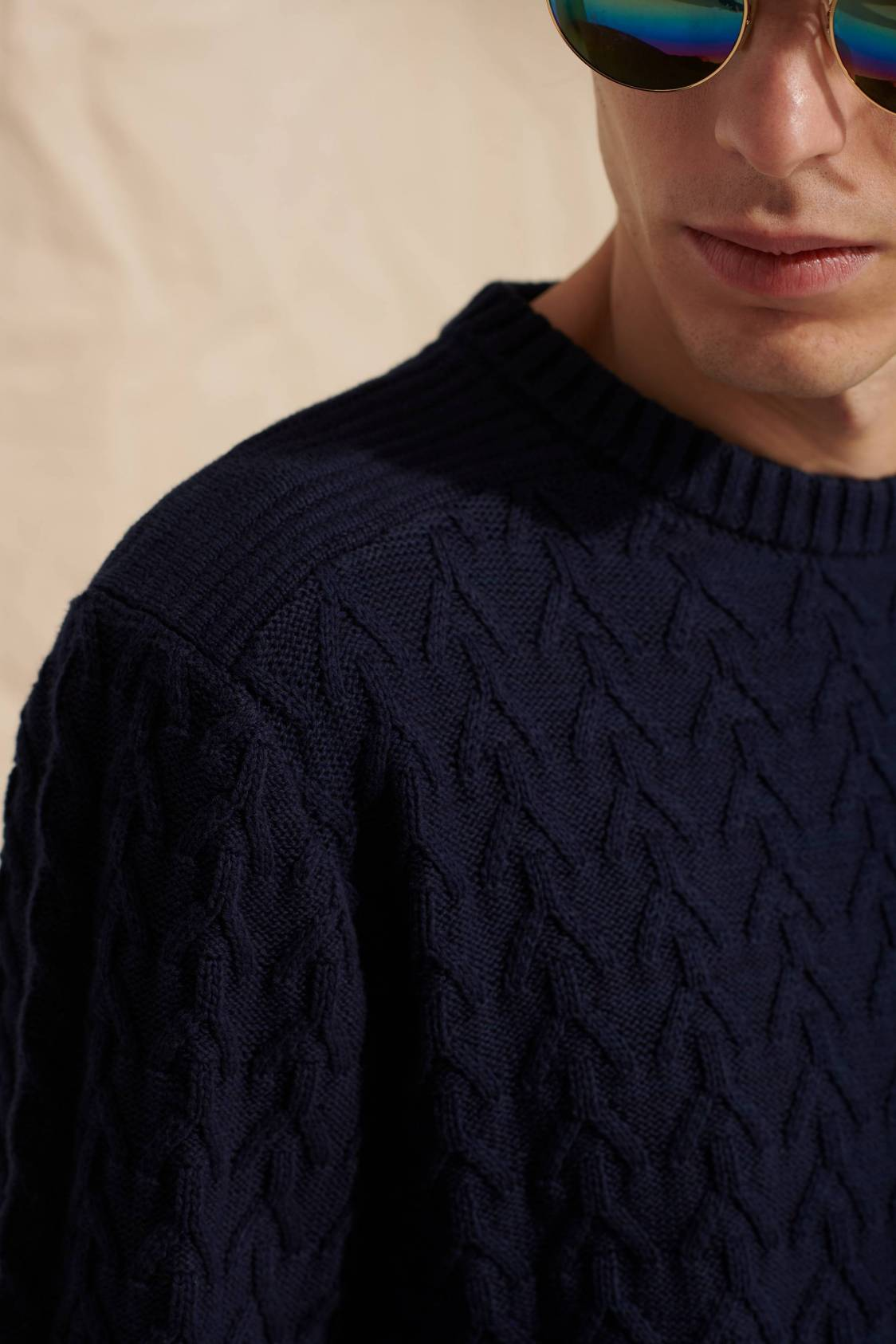 Pull maille graphique
