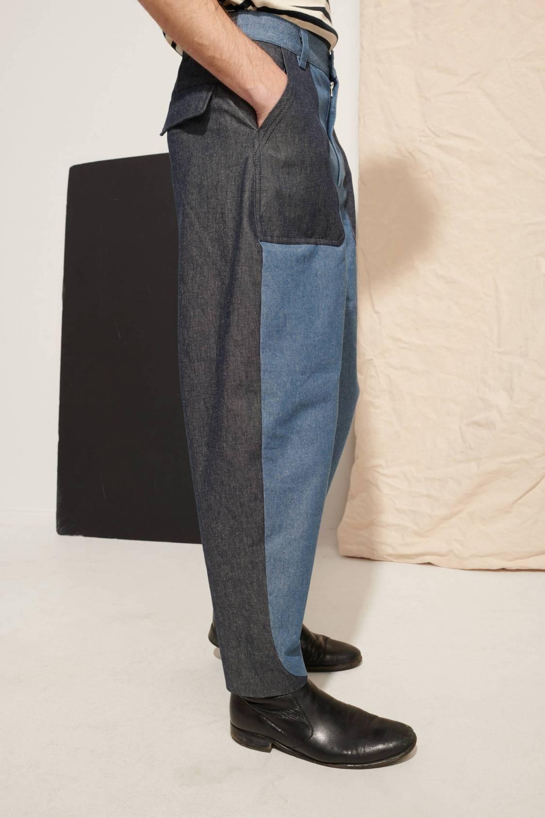 Bicolor Denim Trousers