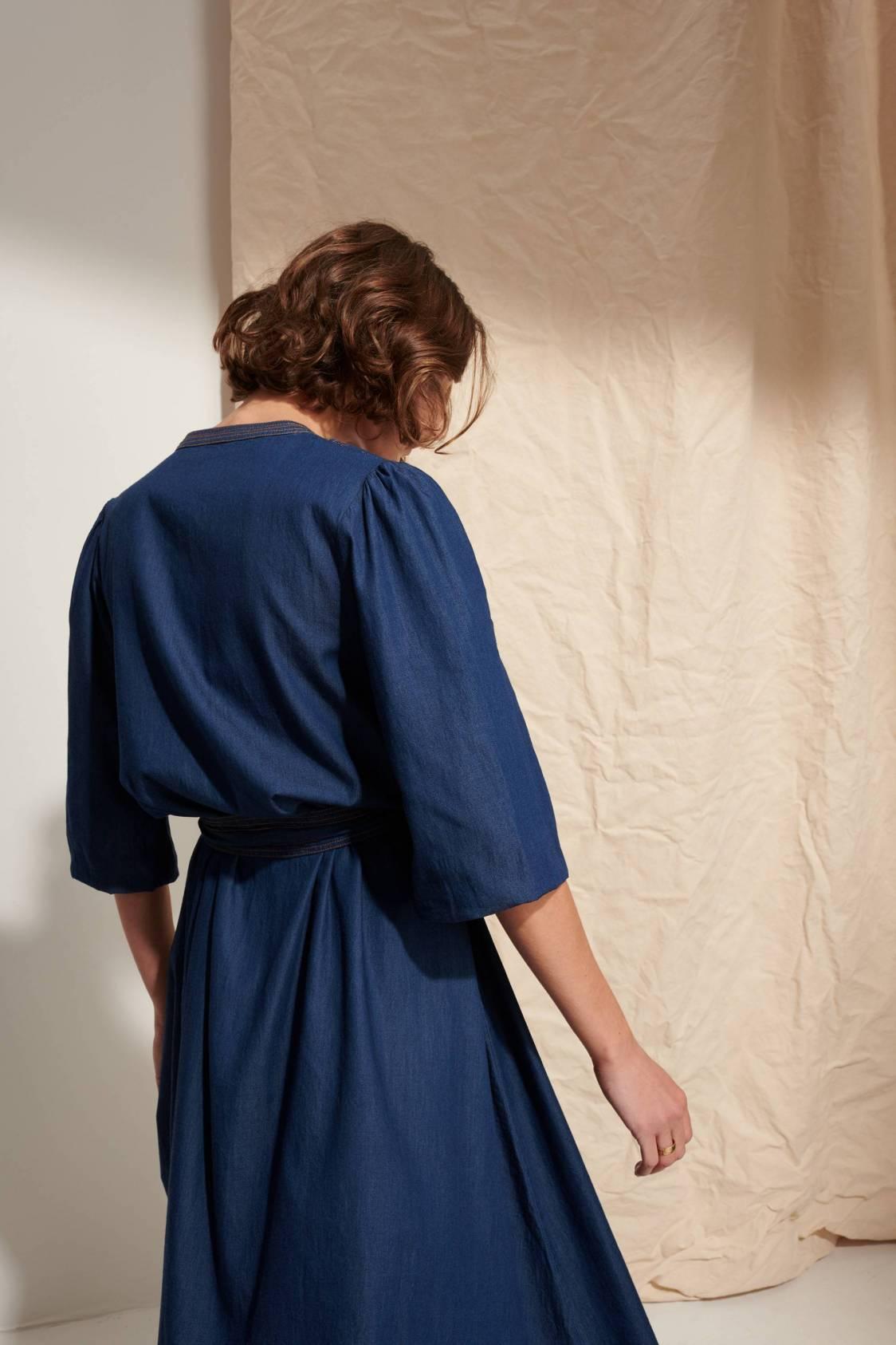 Long Chambray Dress
