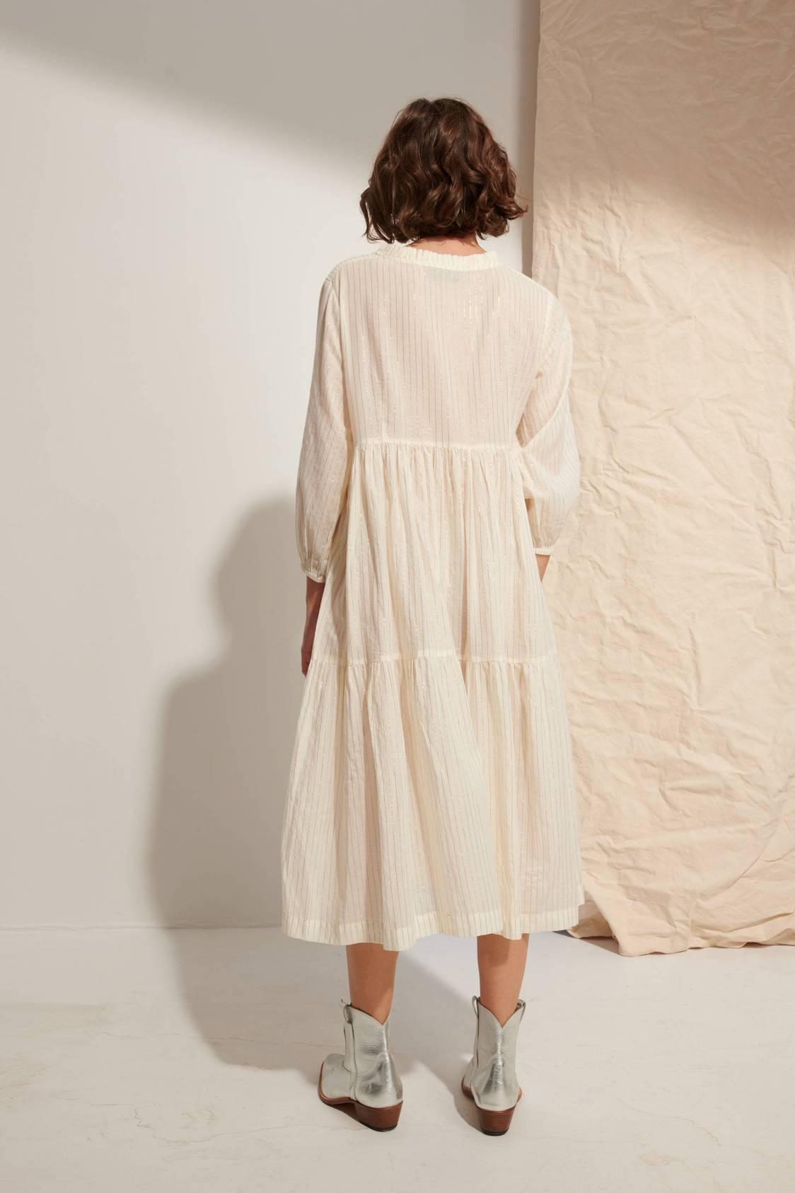 Robe longue lurex
