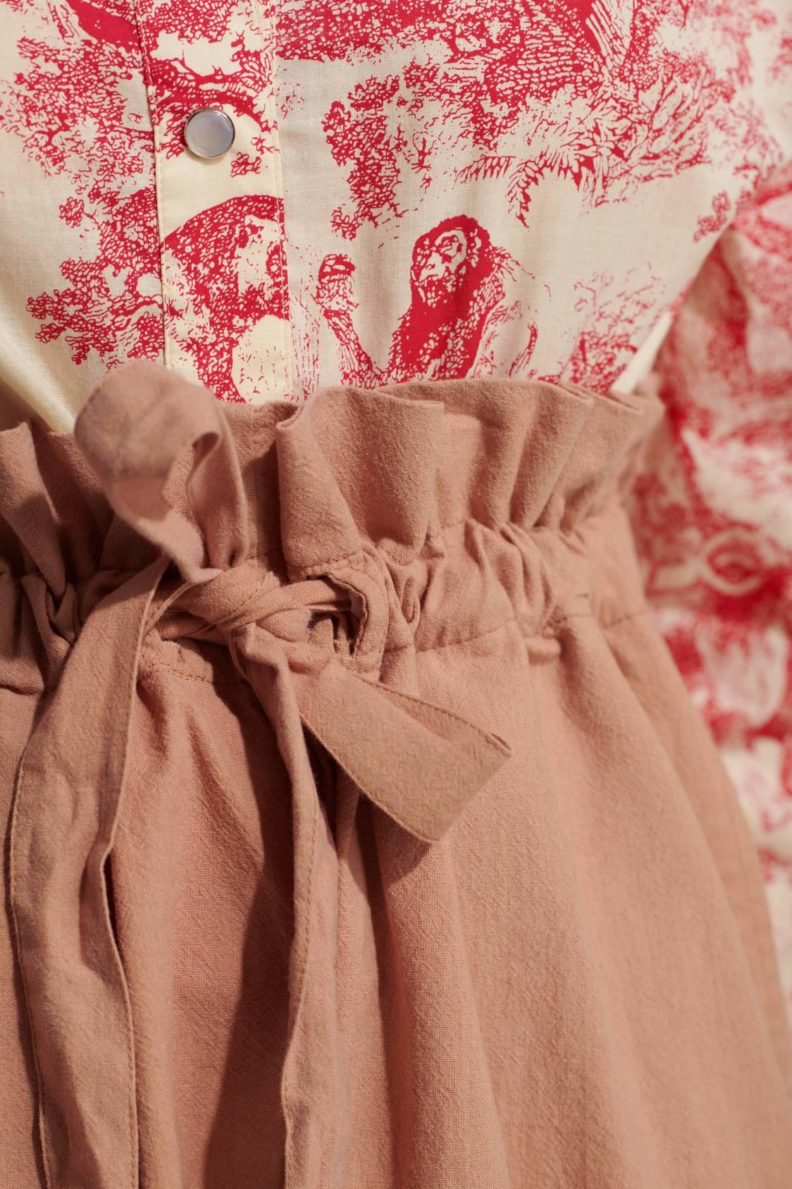 Short en toile de coton lavée