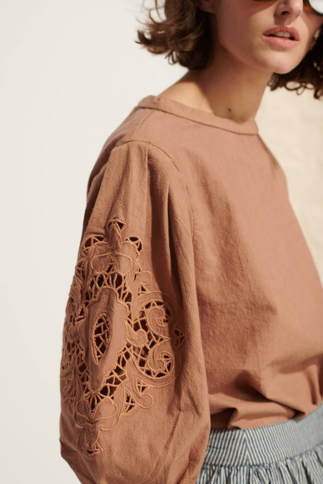 Embroidered Washed Blouse
