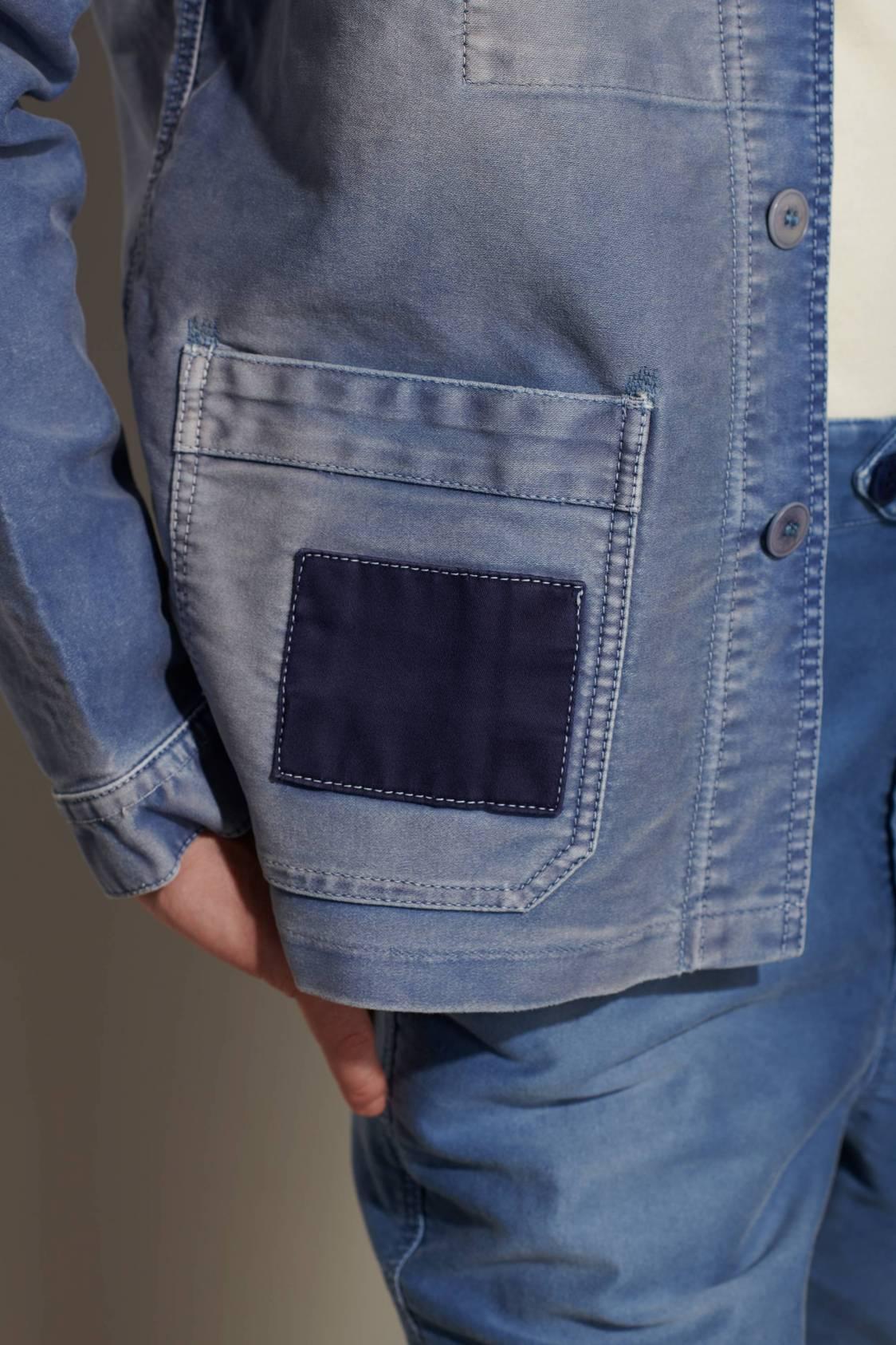 Veste de Travail Vintage à patchs