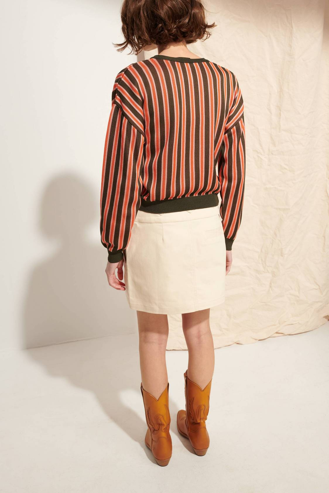 Cardigan à rayures verticales