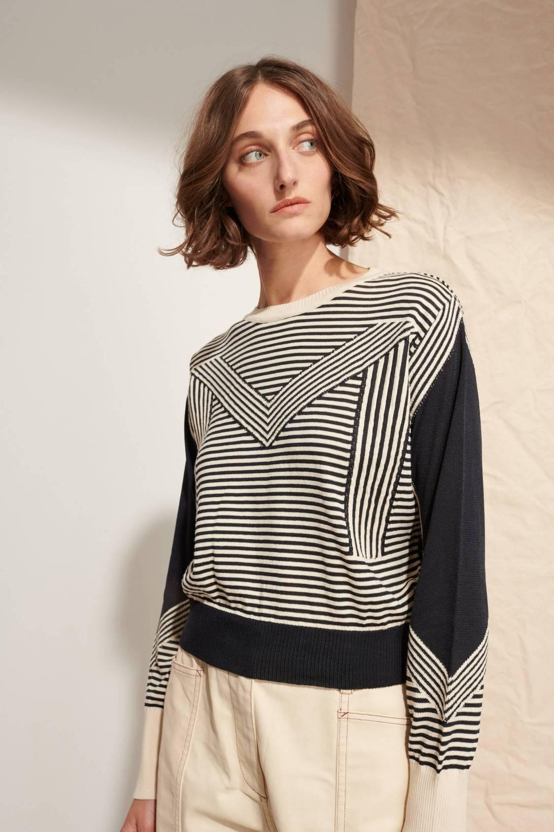 Intarsia M Sweater