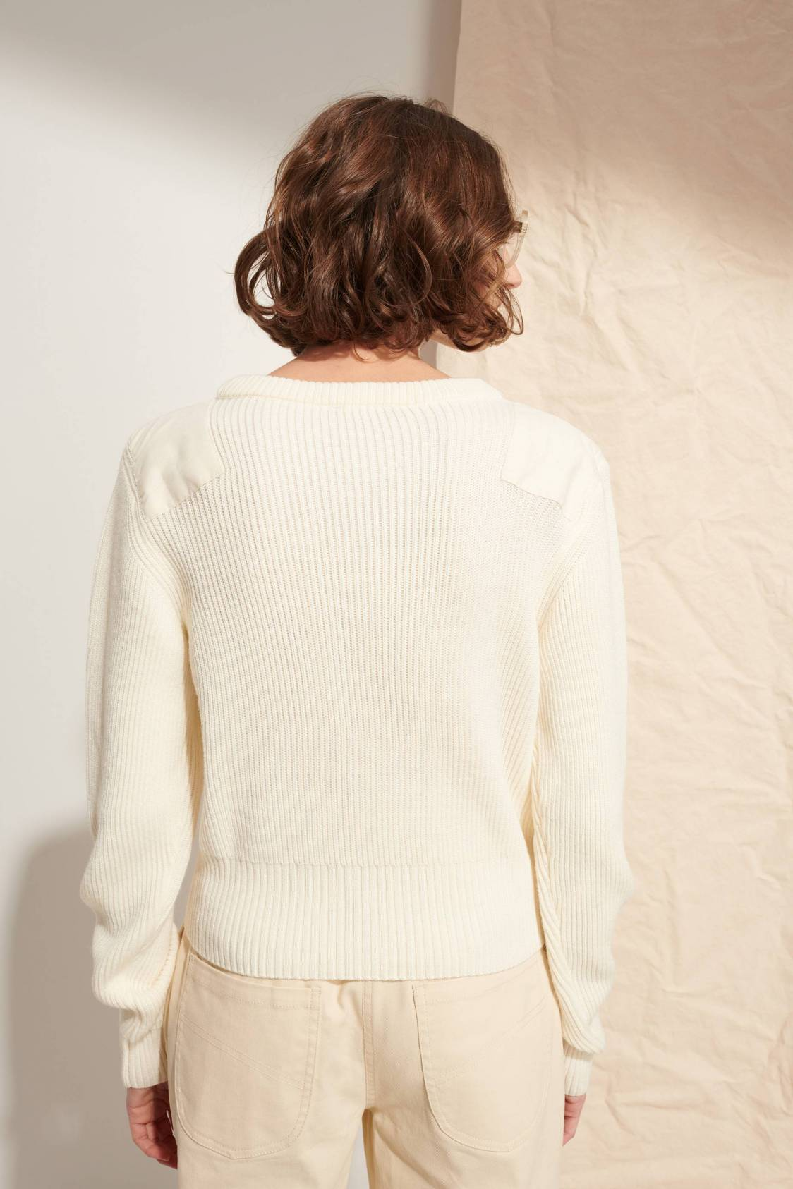 Shoulder-patch Sweater